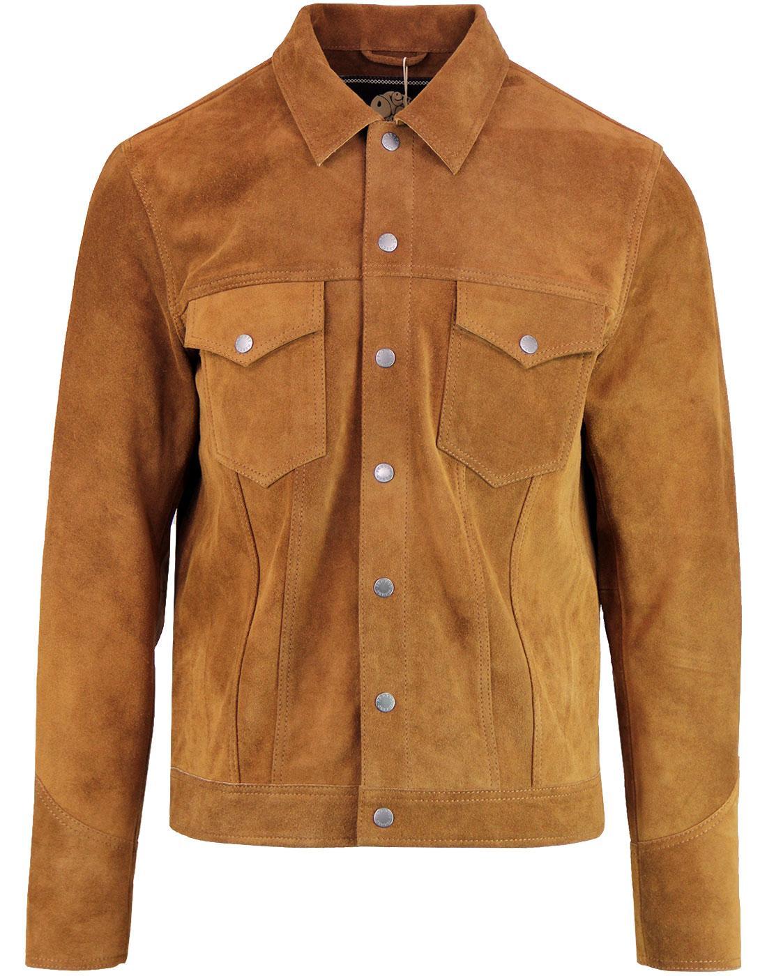 PRETTY GREEN Retro 70's Western Suede Jacket