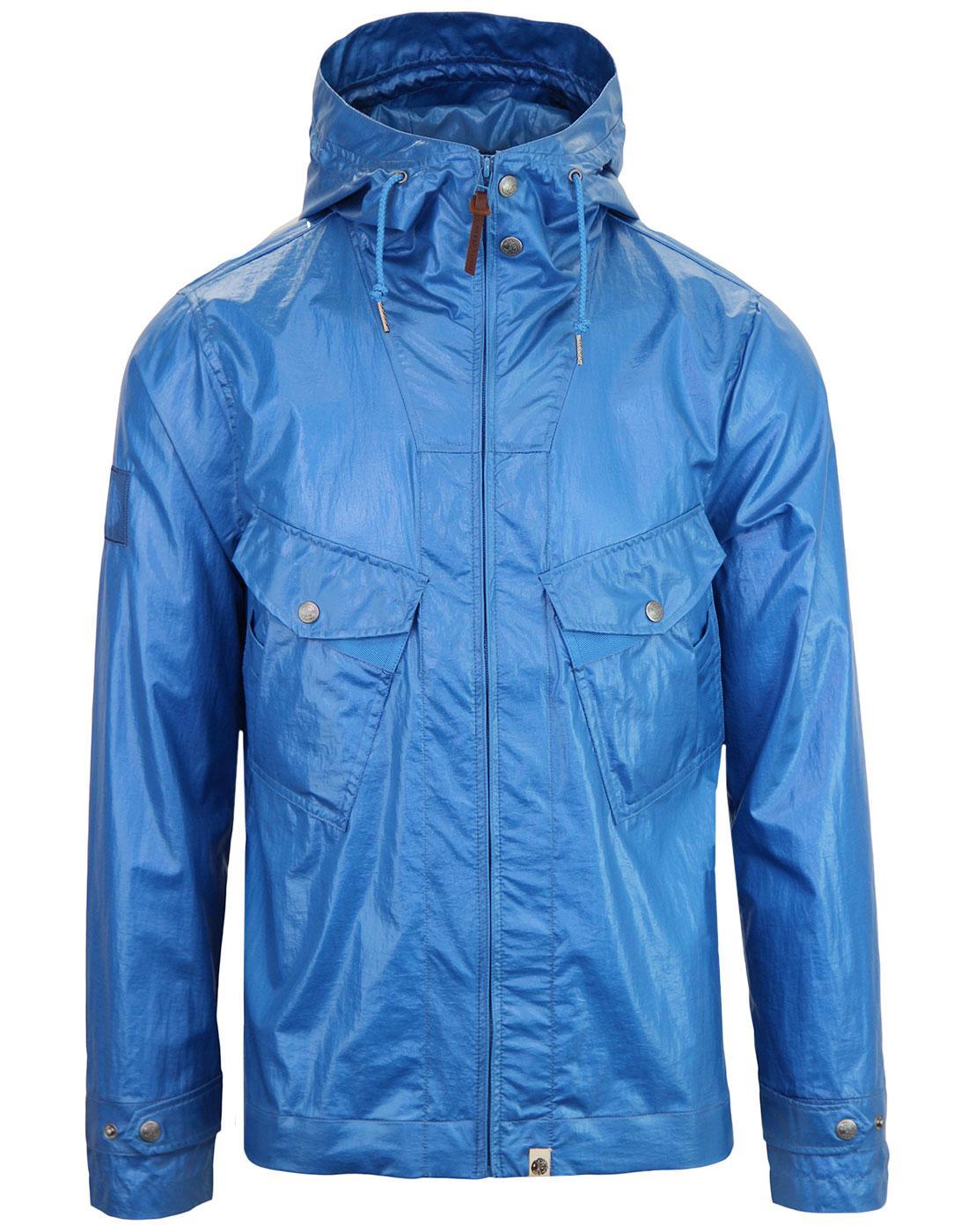 Teredo PRETTY GREEN Retro Wet Look Hooded Jacket B
