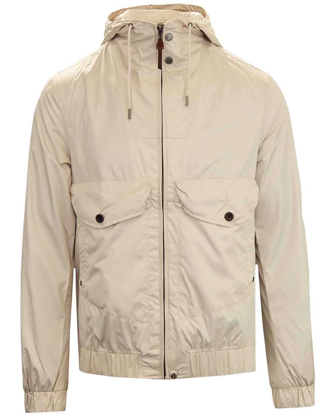 Cardwell PRETTY GREEN Retro Hooded Jacket STONE