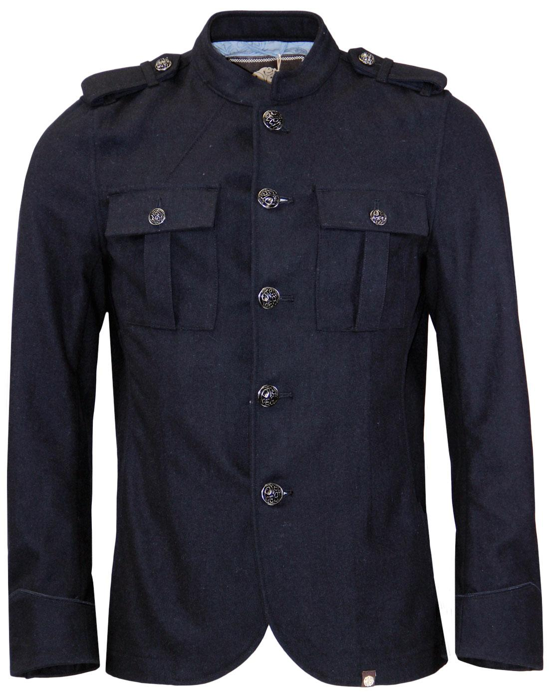 Wool Lennon PRETTY GREEN 60s Mod Military Jacket