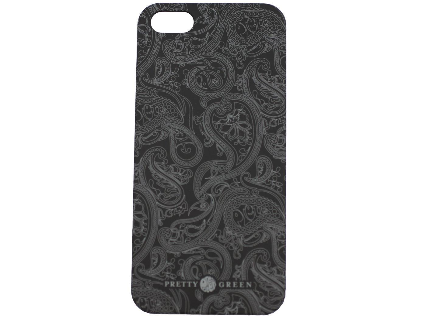 PRETTY GREEN 60s Mod Paisley iPhone 5 Case (BLACK)
