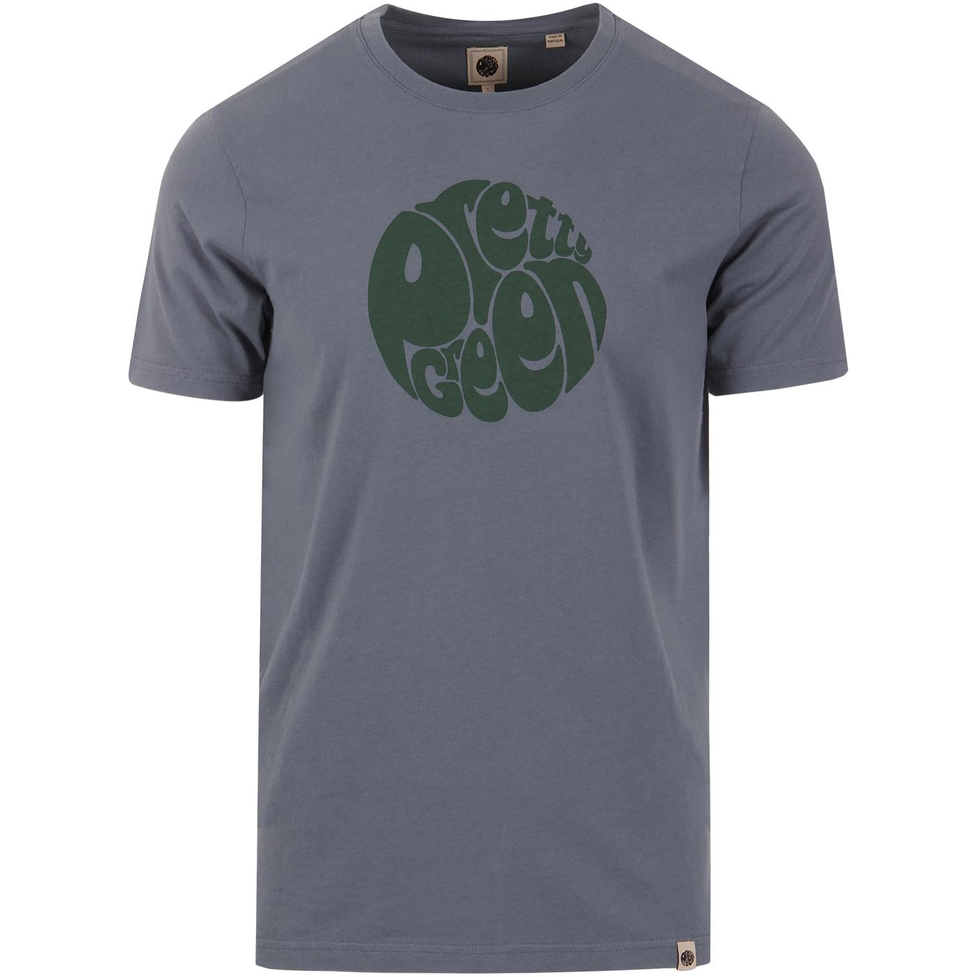 PRETTY GREEN Retro Classic Chest Logo T-Shirt BLUE