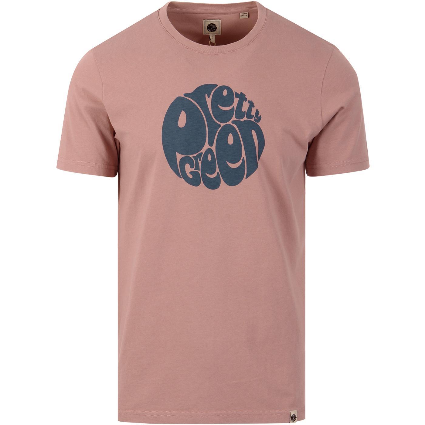 PRETT GREEN Retro Classic Chest Logo T-Shirt PINK