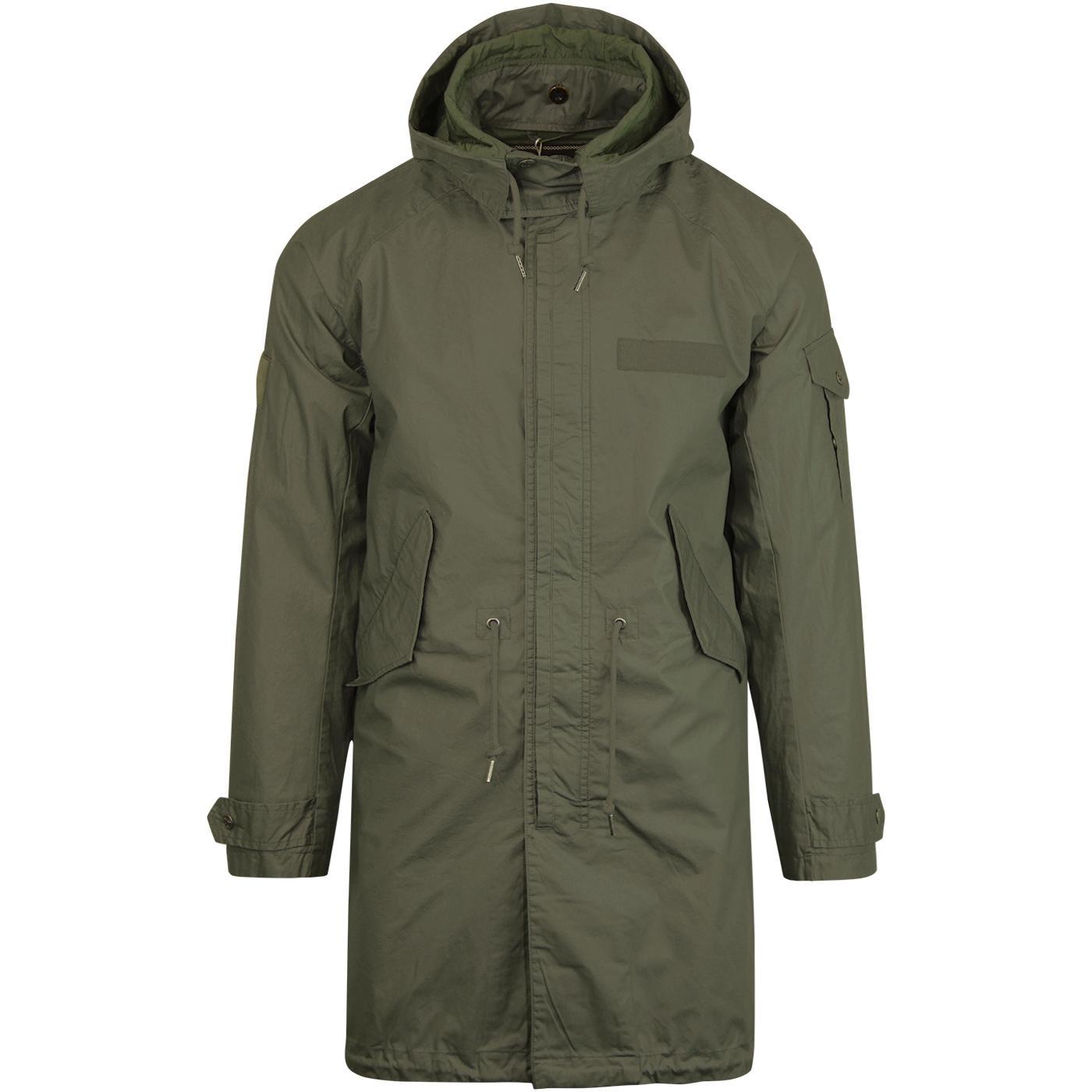 PRETTY GREEN Mod Detachable Hood Light Parka Coat