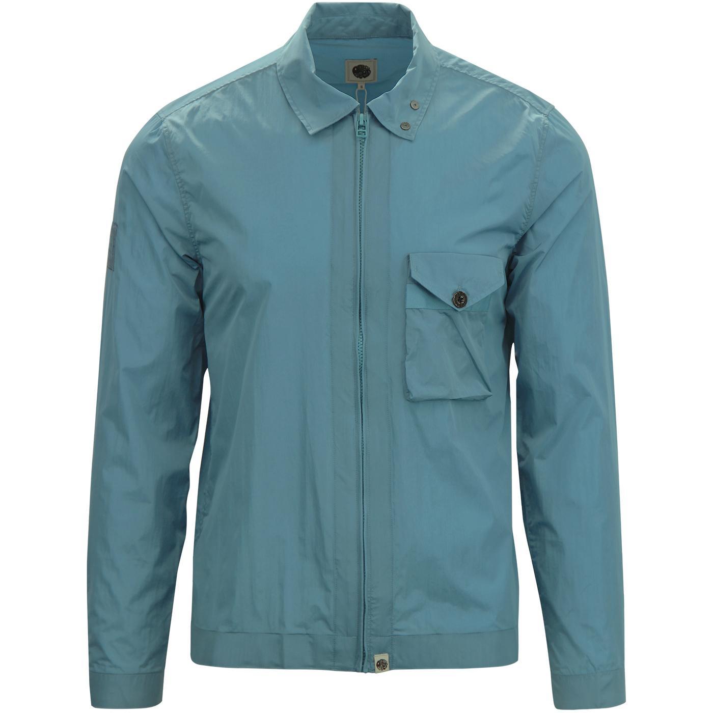 PRETTY GREEN Retro Mod Iridescent Overshirt Jacket