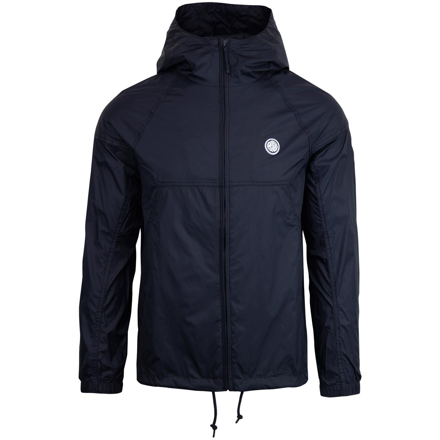 PRETTY GREEN Retro Lightweight Hooded Jacket NAVY
