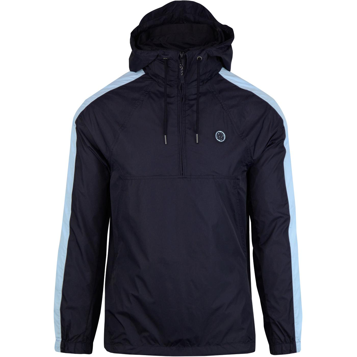 PRETTY GREEN Retro Overhead Hooded Jacket (Navy)