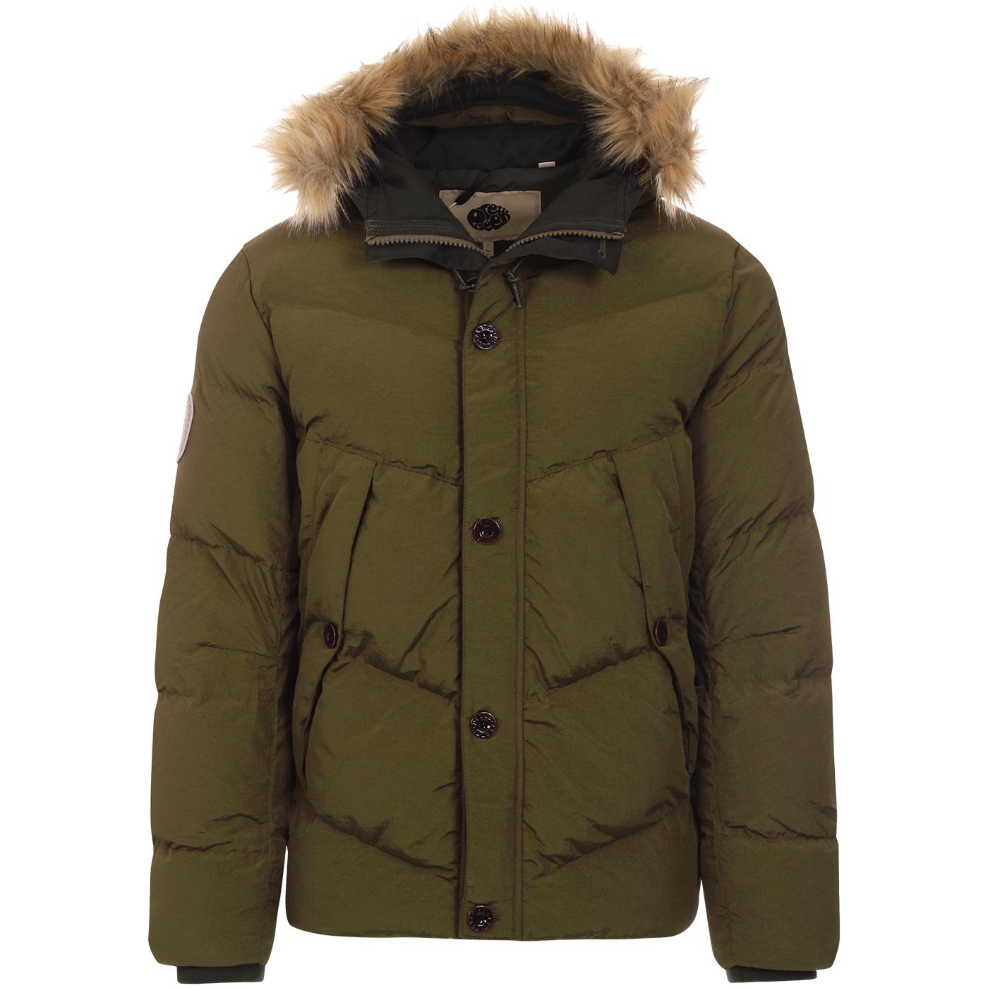 PRETTY GREEN Mod Quilted Hooded Parka Jacket (K)