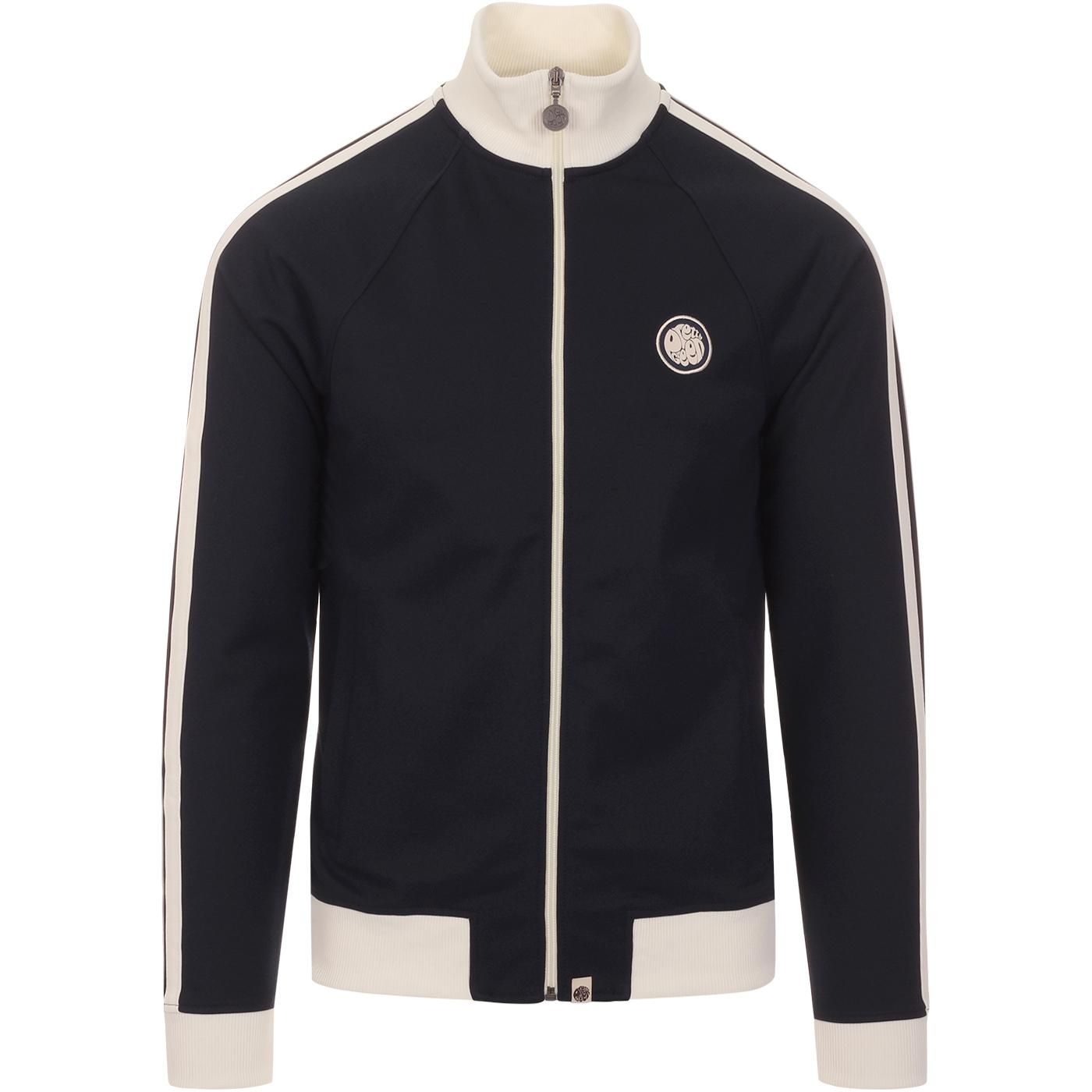 PRETTY GREEN Retro 1970s Funnel Neck Track Top (N)