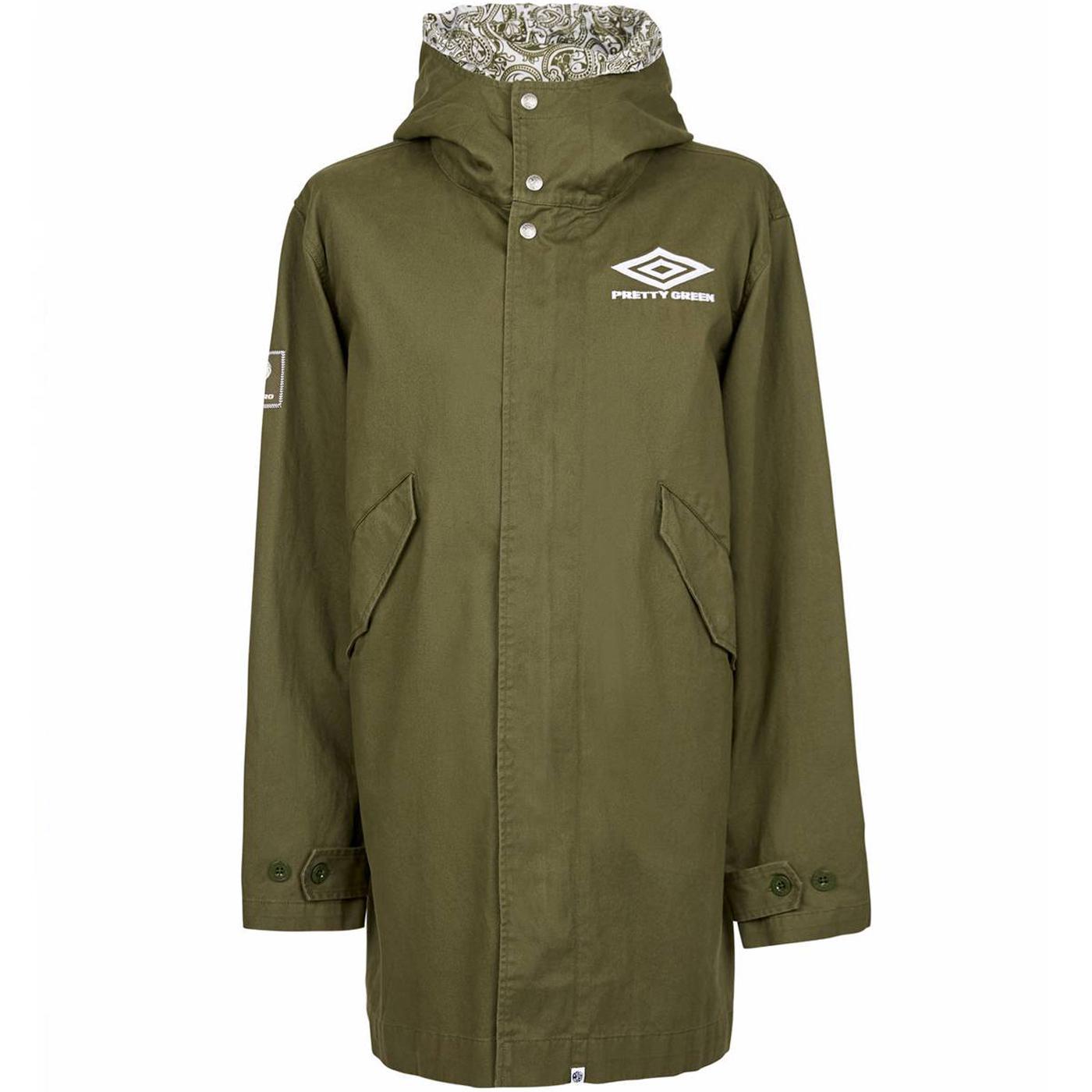 A9GMU0005756 umbro zip up hooded parka green