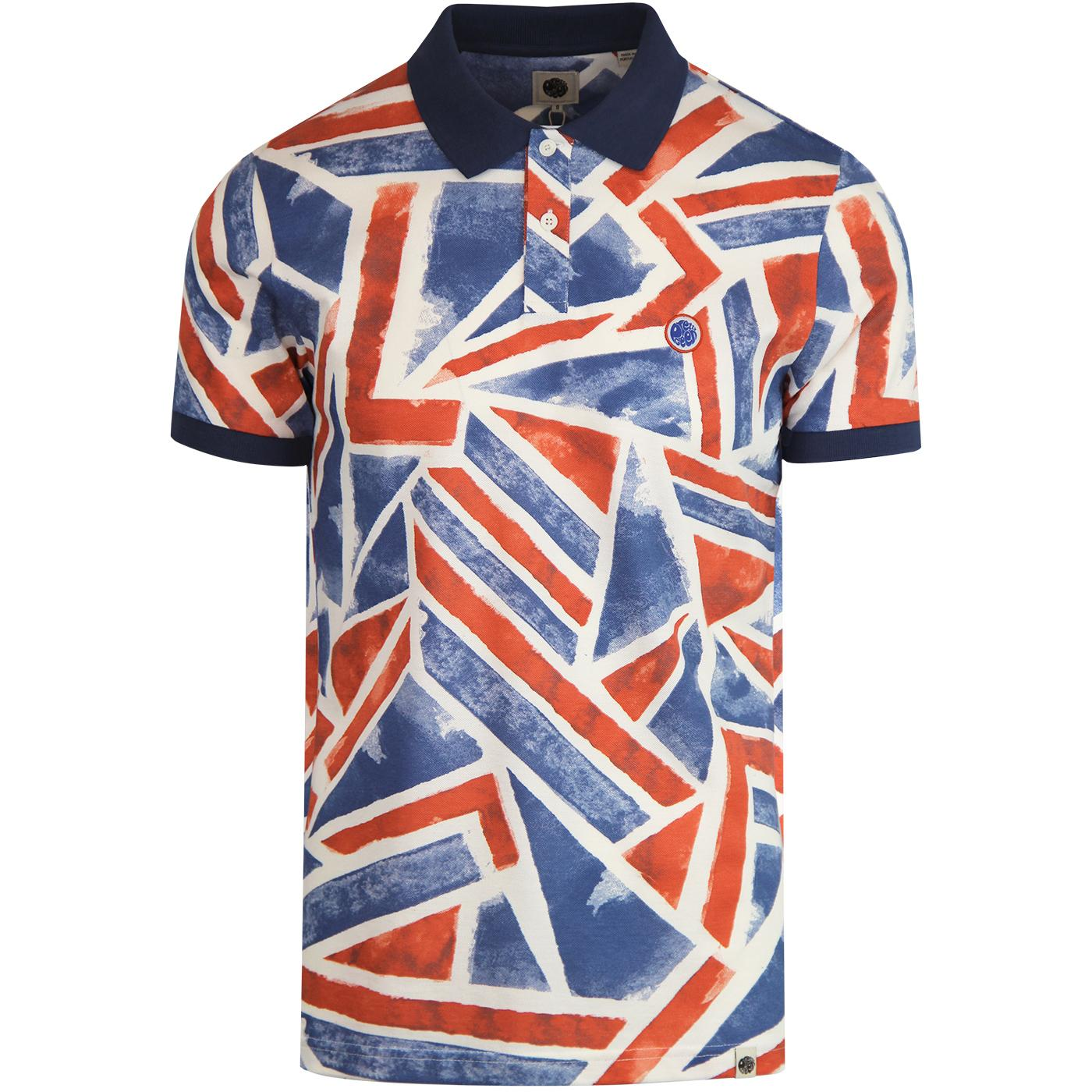 PRETTY GREEN Union Jack 60s Mod Pop Art Polo Top