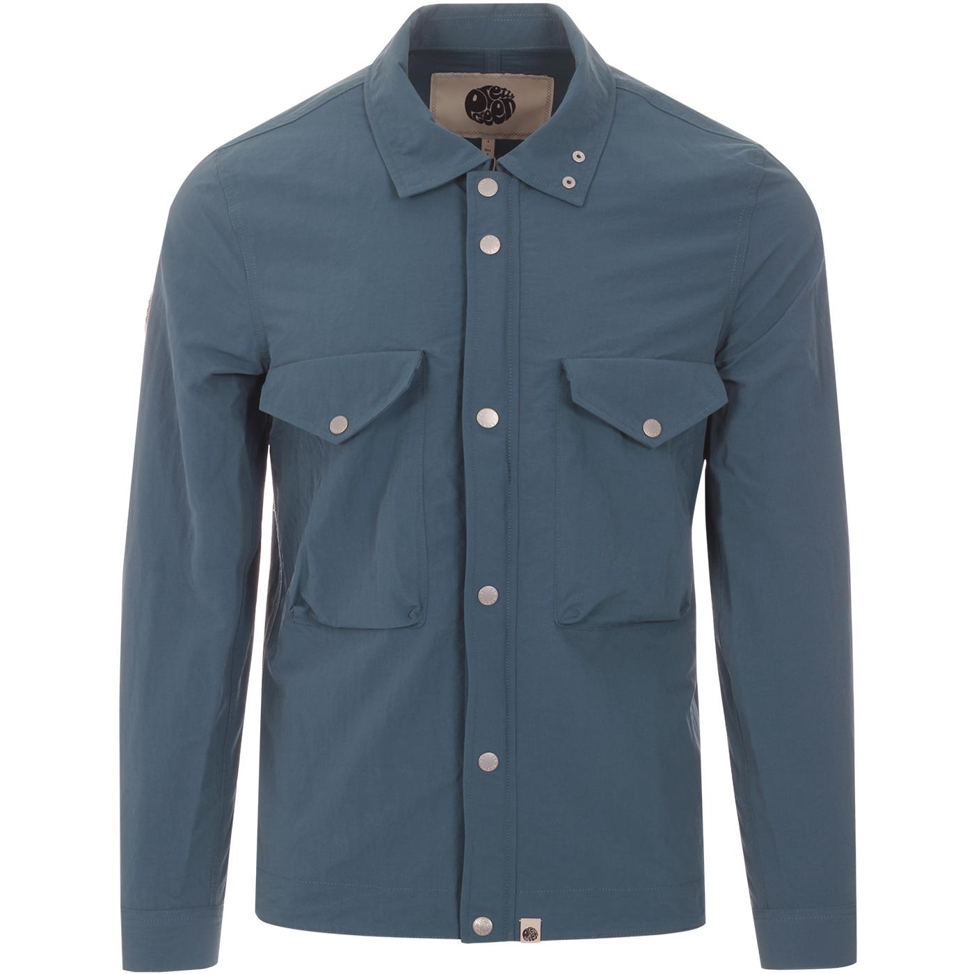 PRETTY GREEN Retro Indie Zip Through Overshirt B