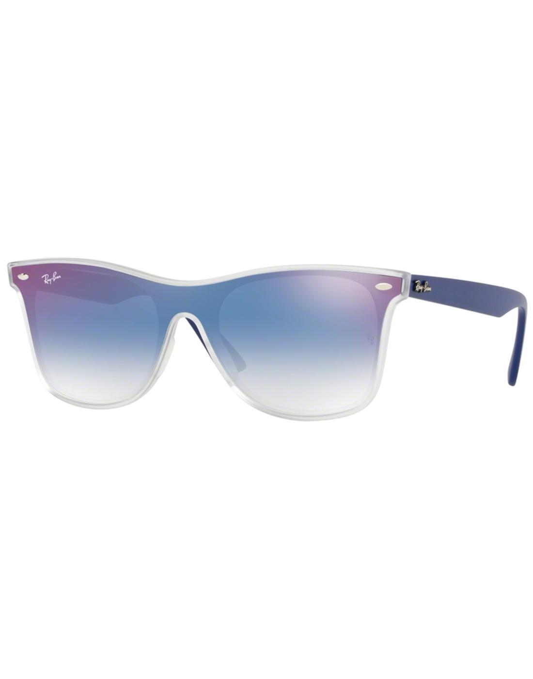 7ff77c7b0564d RAY-BAN Blaze Wayfarer Retro Mirror Lens Sunglasses in Blue