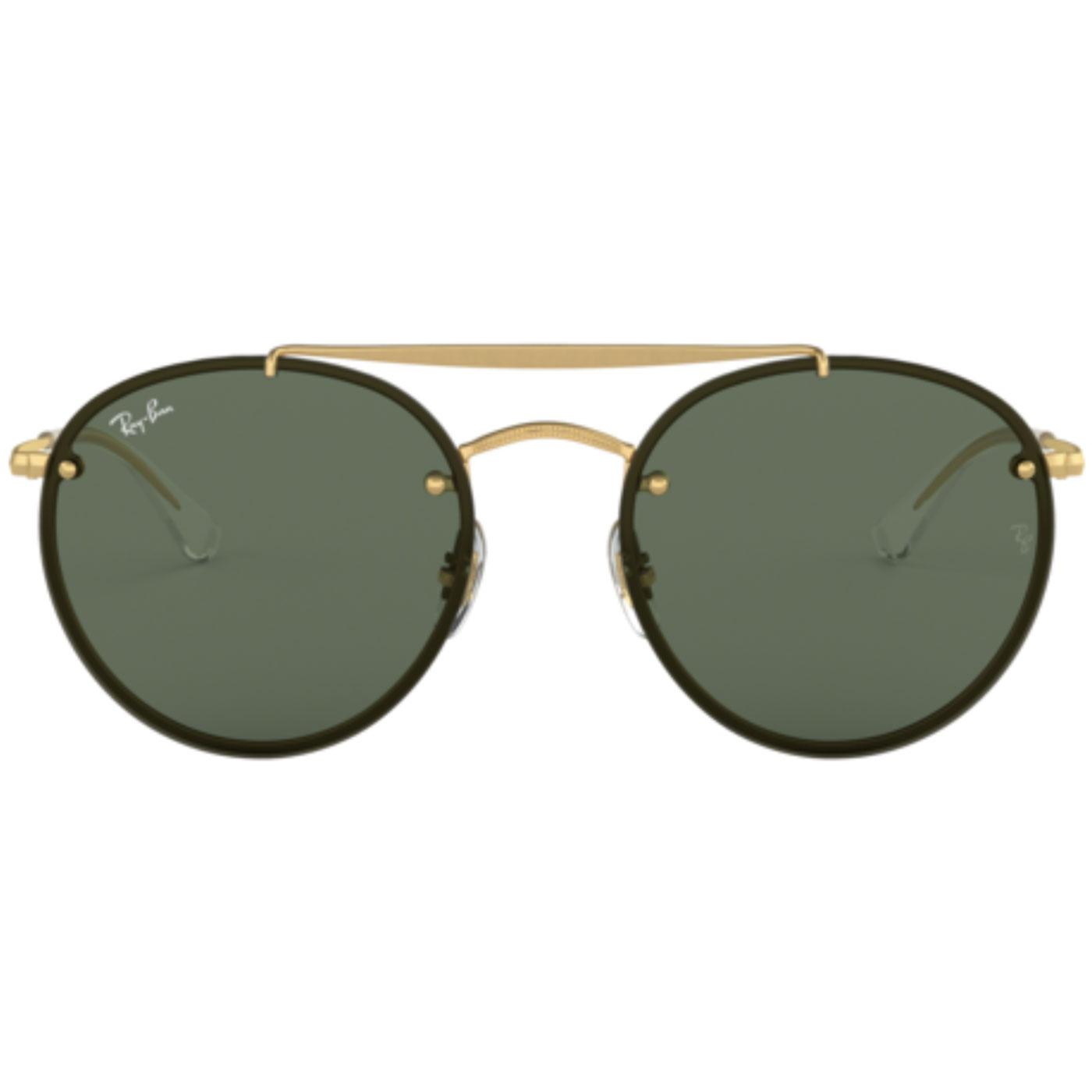 RAY-BAN Retro Double Bridge Blaze Round Sunglasses