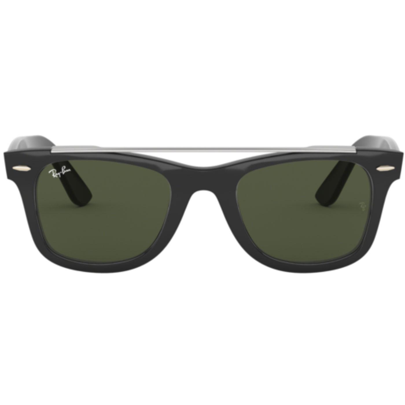 RAY-BAN Retro 70s Brow Bar Wayfarer Sunglasses