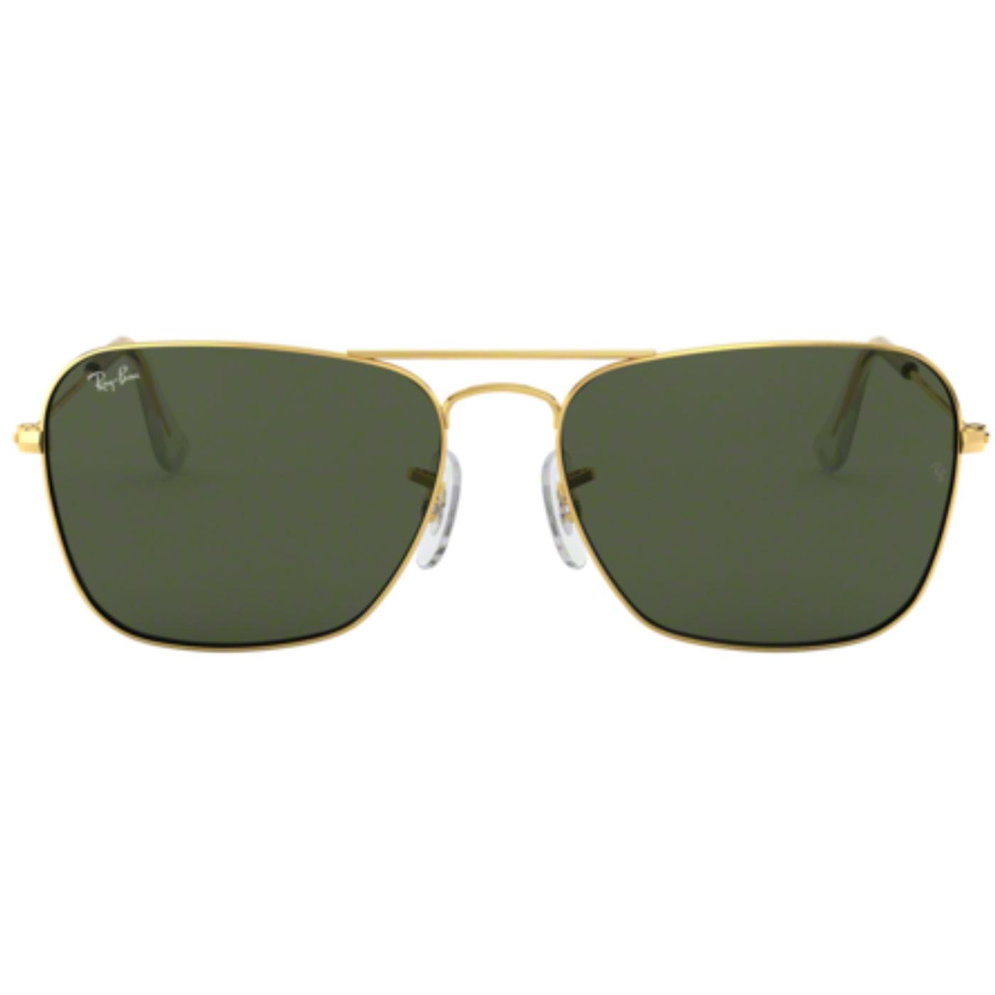 6ee8e966d RAY-BAN Caravan Retro 60s Mod Indie Sunglasses in Gold