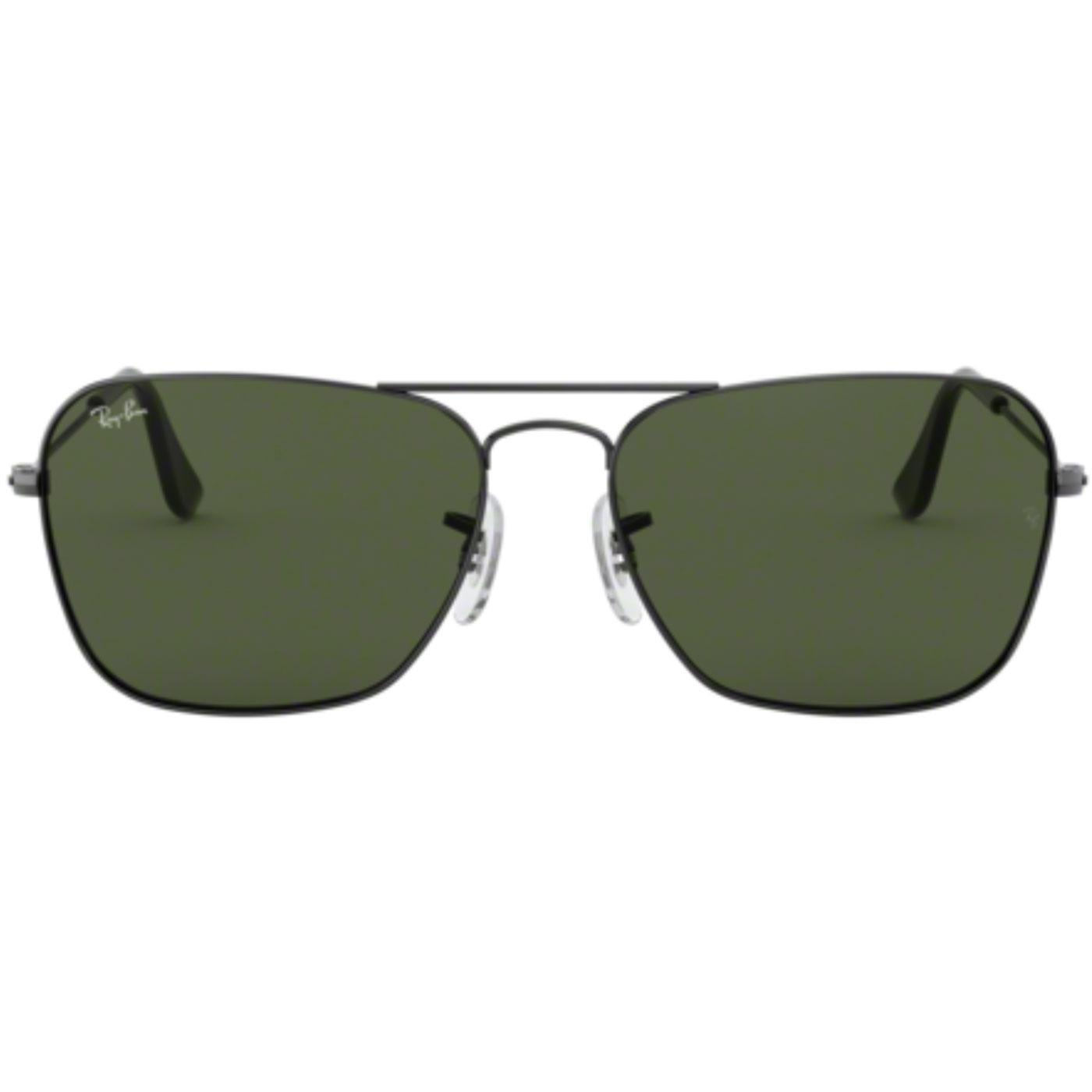 2923e3929d Ray-Ban Caravan Retro Mod Sunglasses in Gunmetal Green 0RB3136
