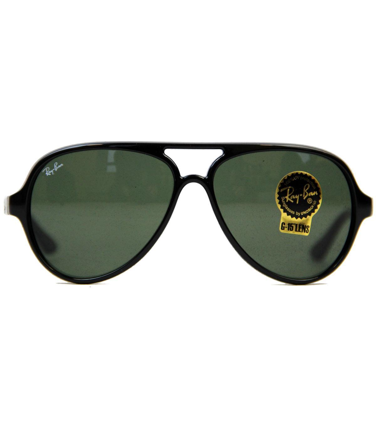 Cats 5000 Ray-Ban Retro Mod Aviator Sunglasses -Bl