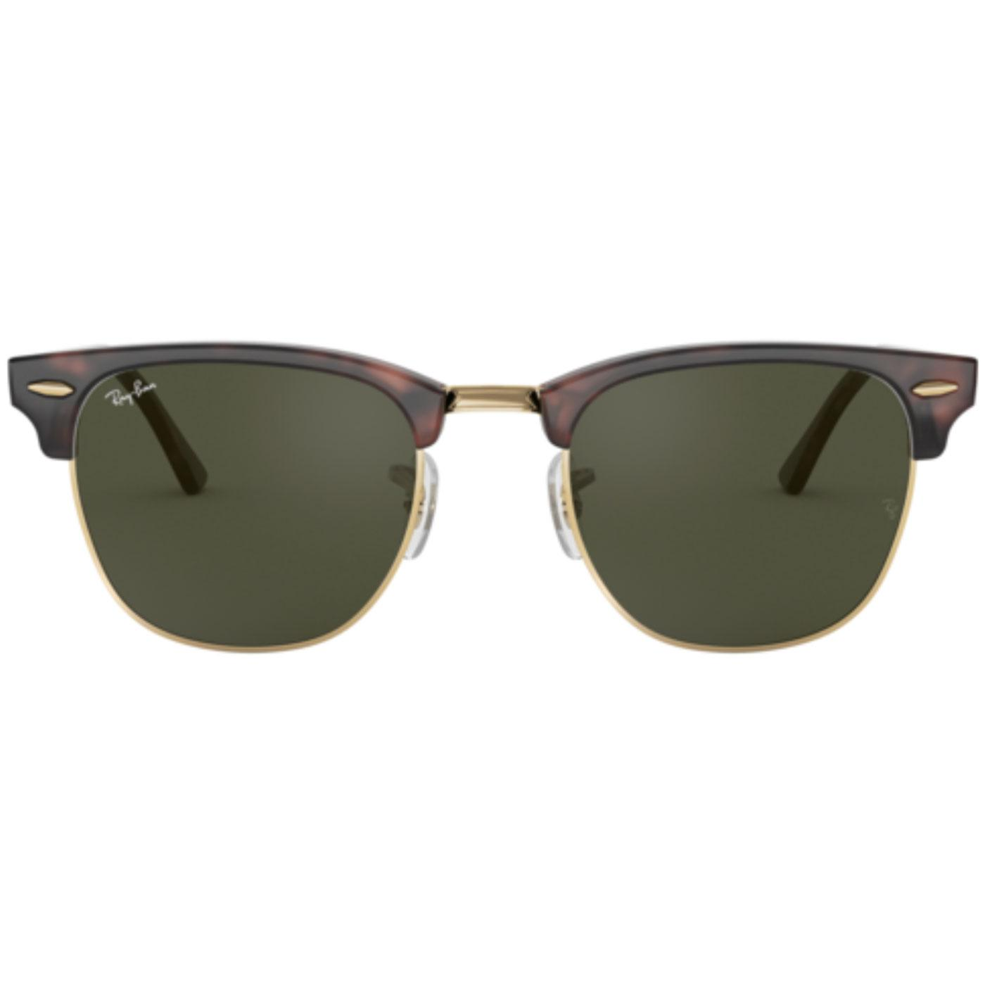 510a4acdb0a2 Ray-Ban Retro Mod Clubmaster Indie Sunglasses in Brown