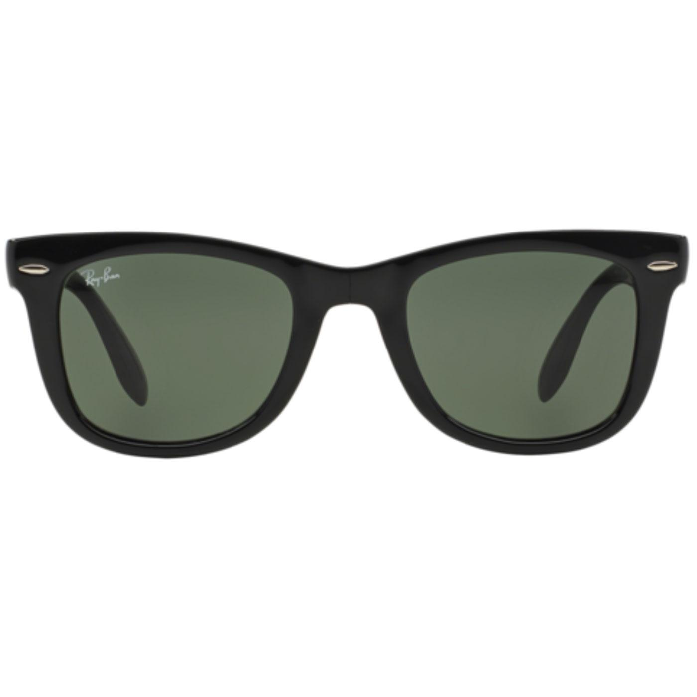 Folding Wayfarer RAY-BAN Retro Sunglasses in Black