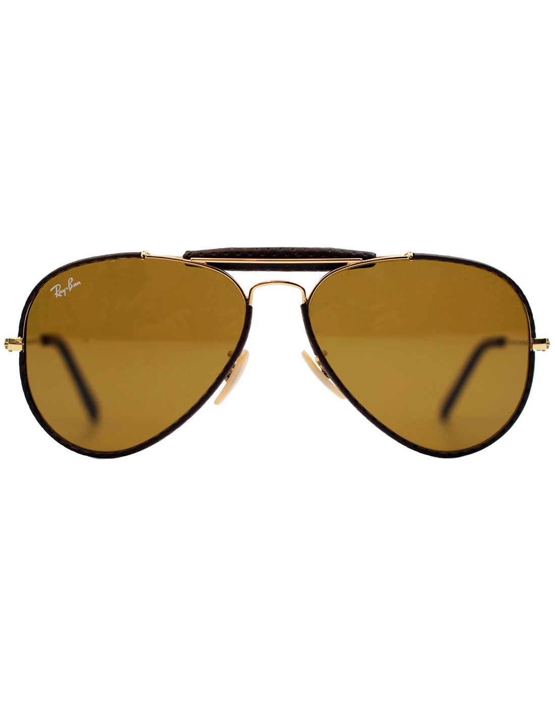71078232d8 RAY-BAN Outdoorsman Craft Retro 70s Leather Sunglasses in Brown