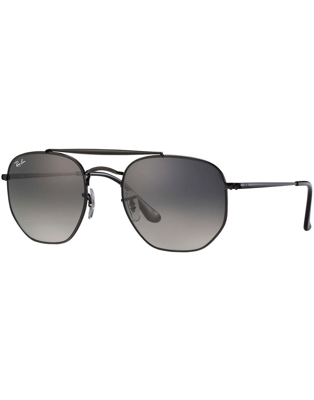 Marshal RAY-BAN Retro 70s Aviator Sunglasses BLACK