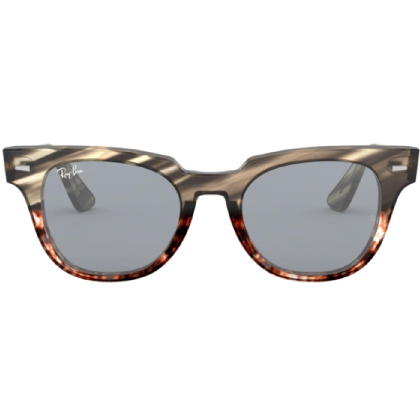 Meteor RAY-BAN Retro Striped Havana Sunglasses