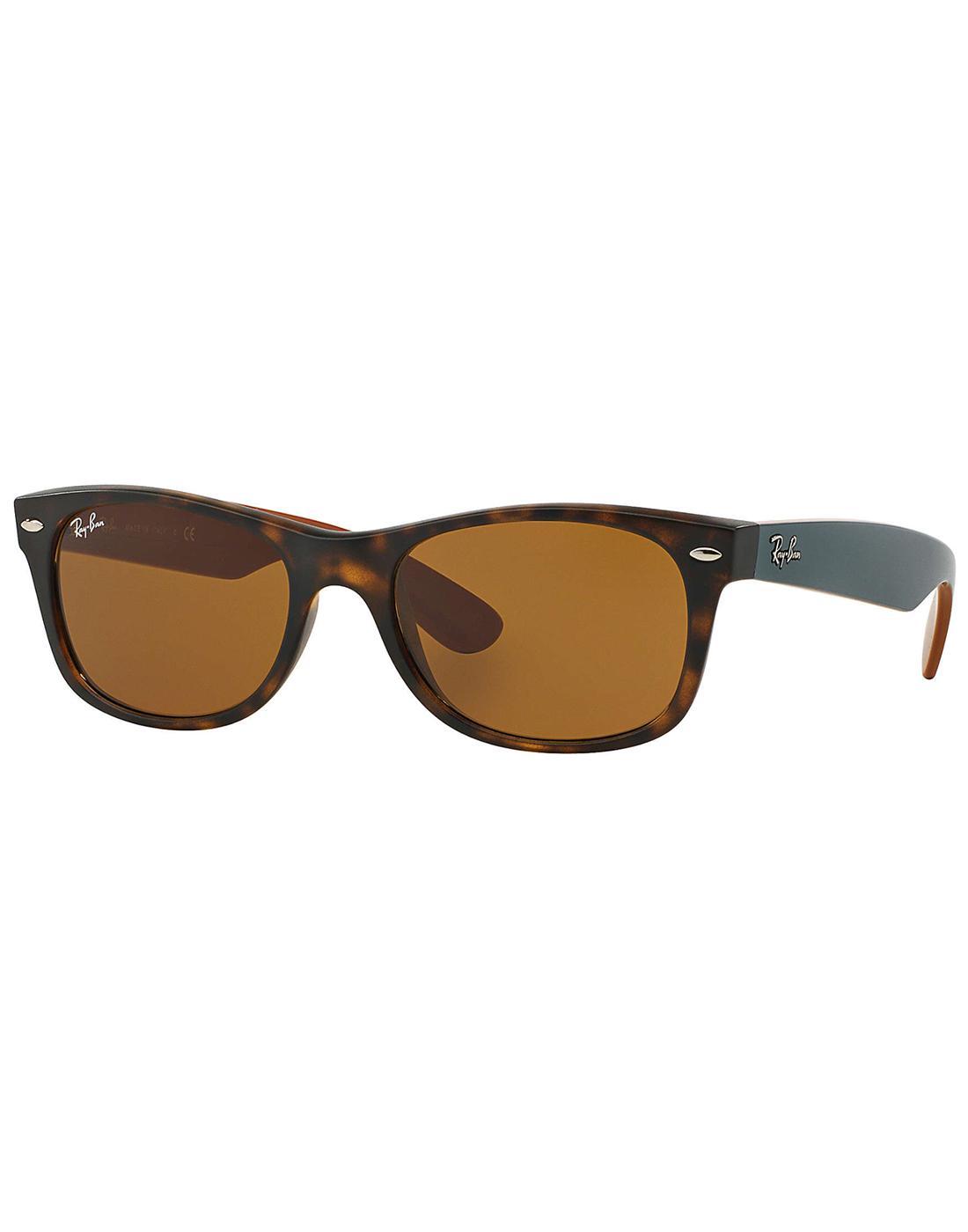 New Wayfarer RAY-BAN Retro Sunglasses -Brown/Green
