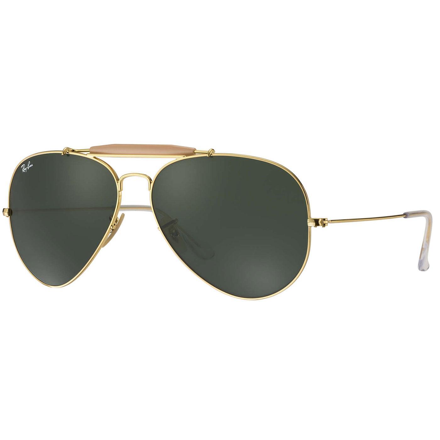 Ray-Ban Outdoorsman Retro Mod Aviator Sunglasses G