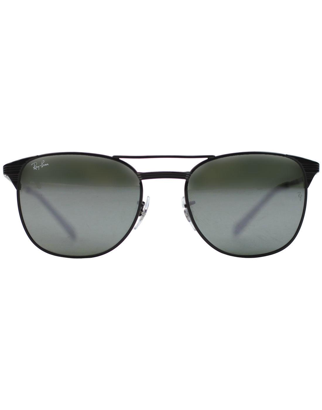 Signet RAY-BAN Retro 50s Sunglasses - Black Mirror