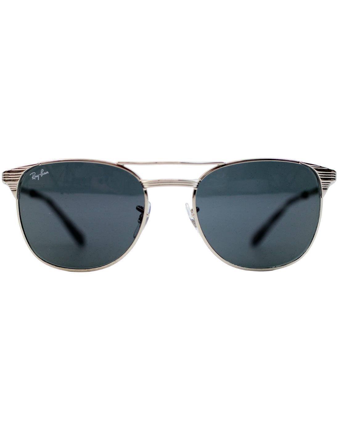 fa44cfaa61 RAY-BAN Signet Retro 50s Men s Icons Sunglasses in Silver Grey