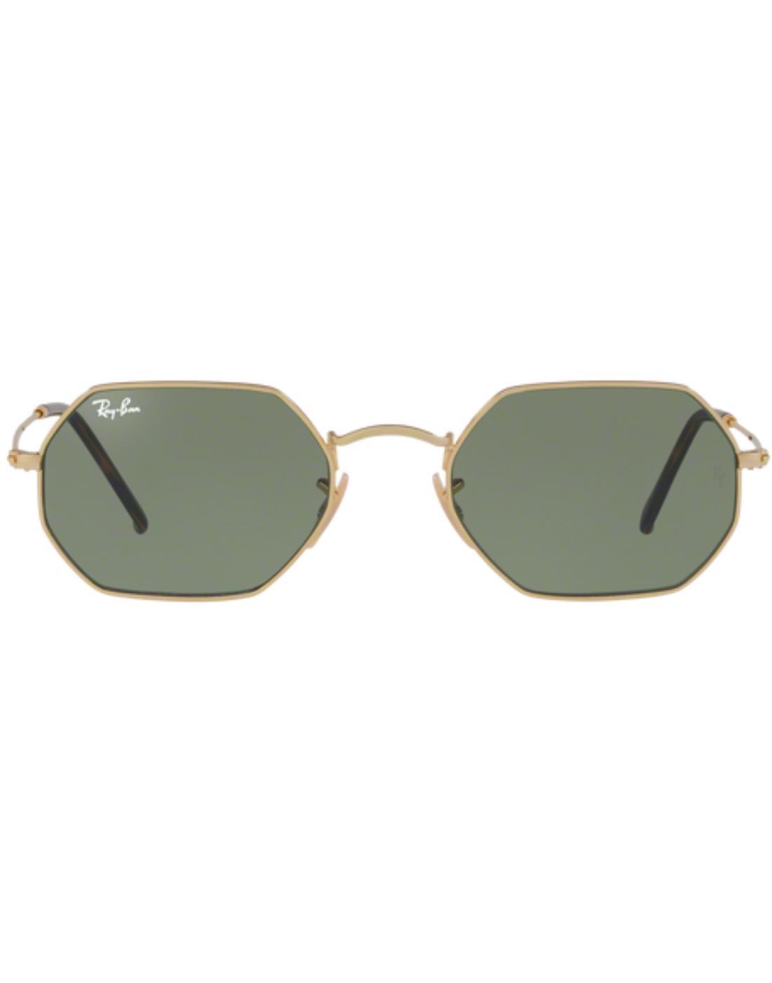RAY-BAN Retro 60s Octagon Shaped Sunglasses -Green