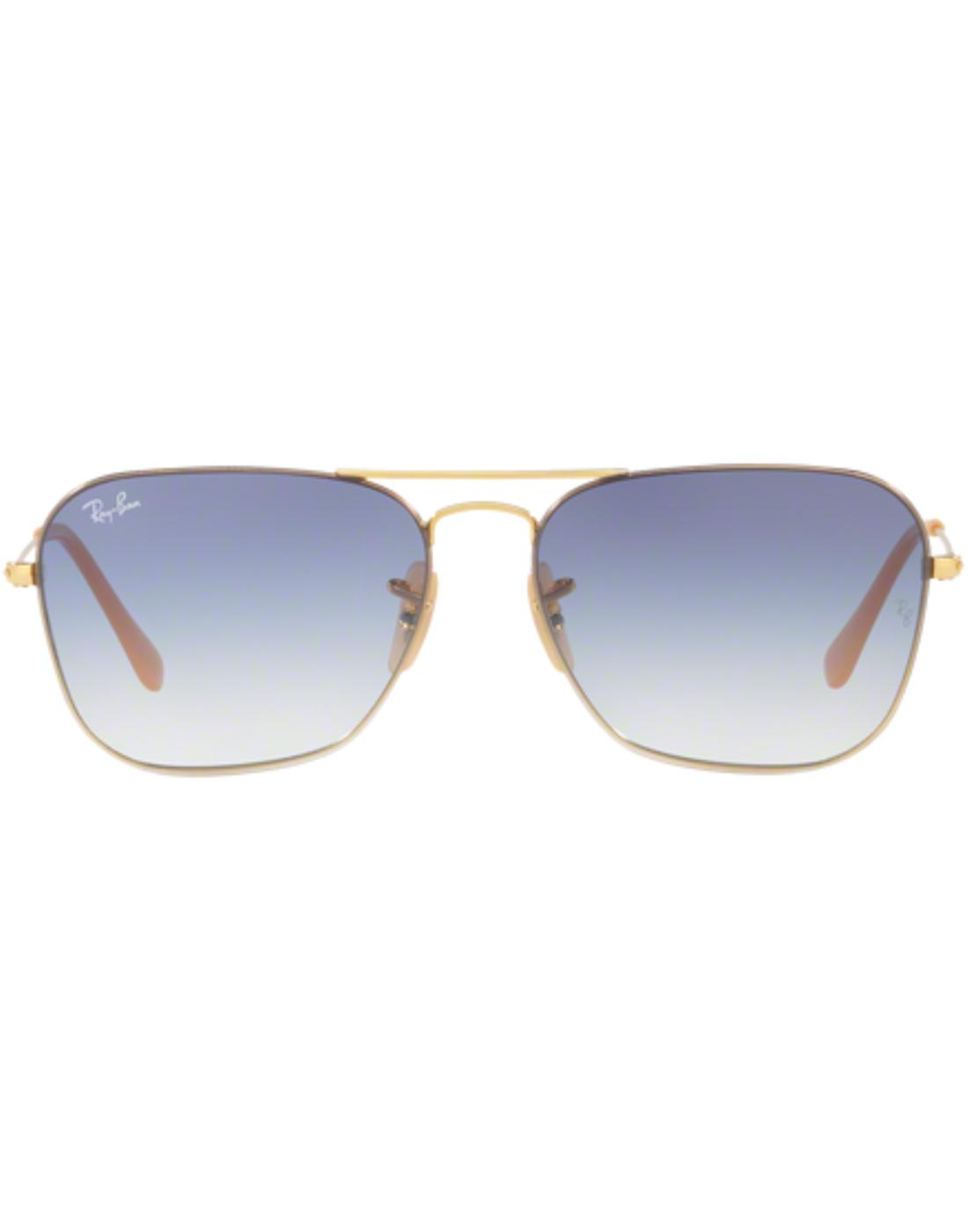 RAY-BAN Retro 70s Mod Small Caravan Sunglasses Bl