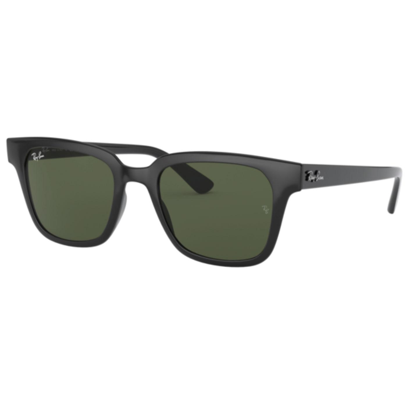 RAY-BAN RB4323 Retro Square Frame Wayfarers BLACK