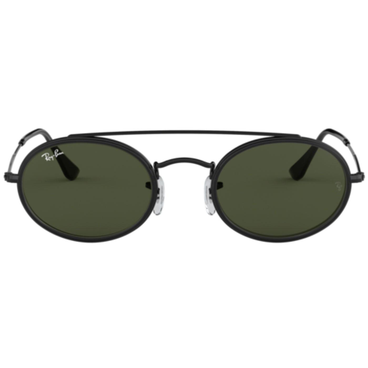 RAY-BAN Retro Double Bridge Round Sunglasses (B)