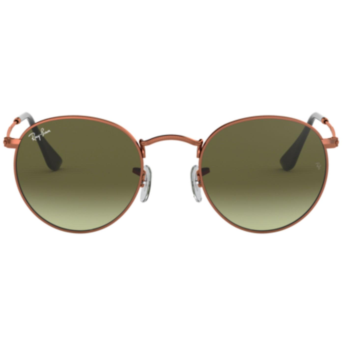 RAY-BAN Retro Mod Sixties Bronze Round Sunglasses