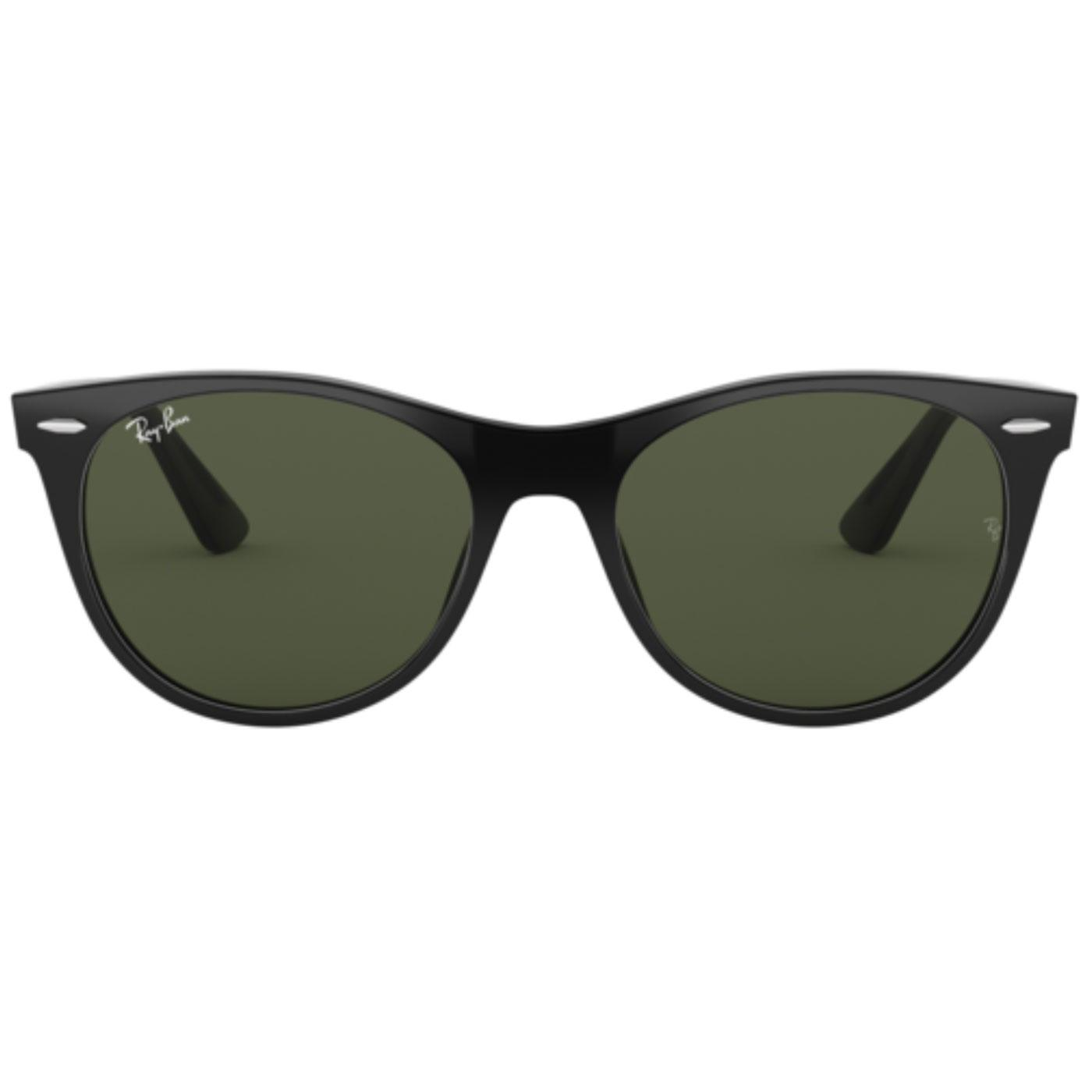 Wayfarer II RAY-BAN Retro Rounded Sunglasses Black