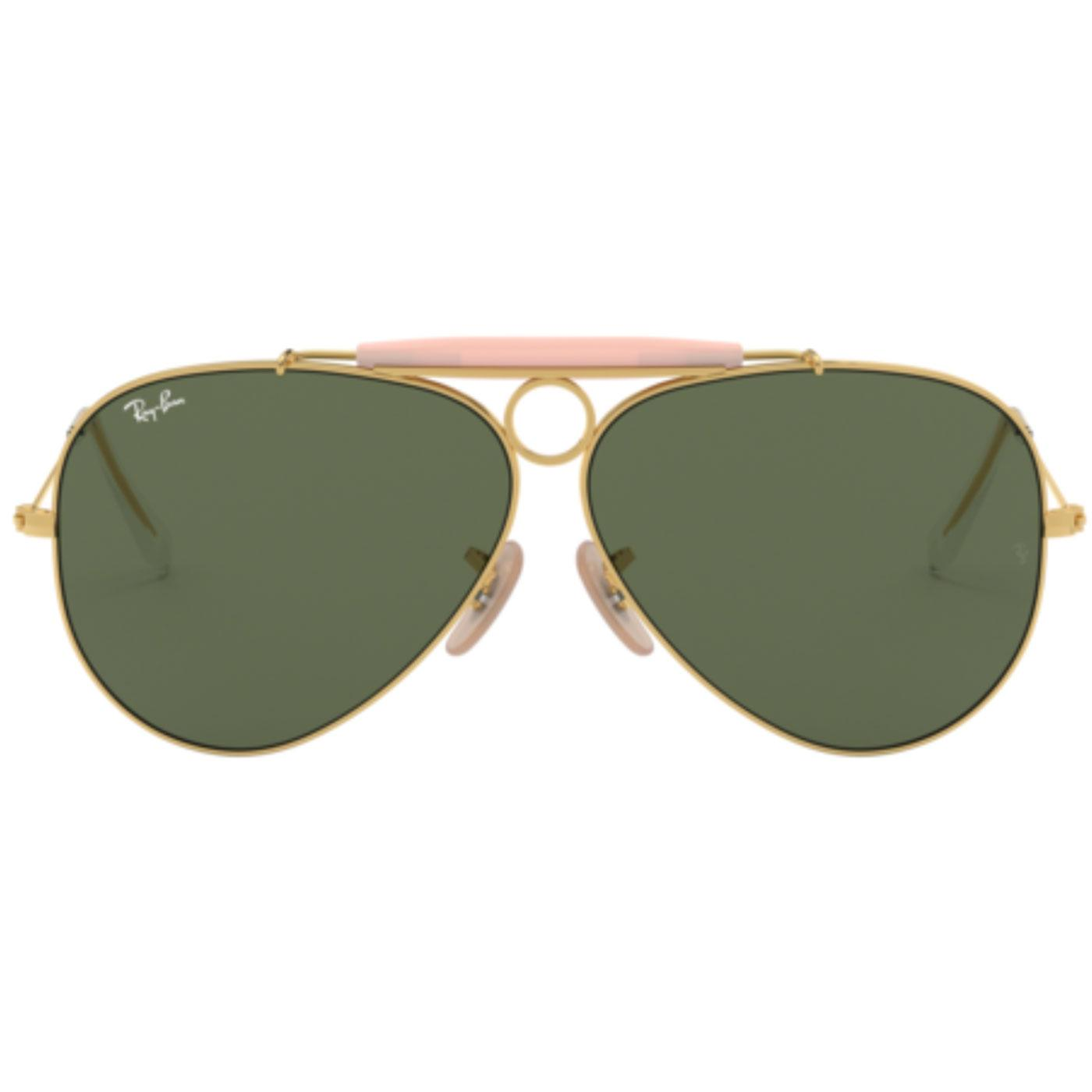 82cf0dbc4e Shooter RAY-BAN Icon Retro 70s Mod Sunglasses Gold