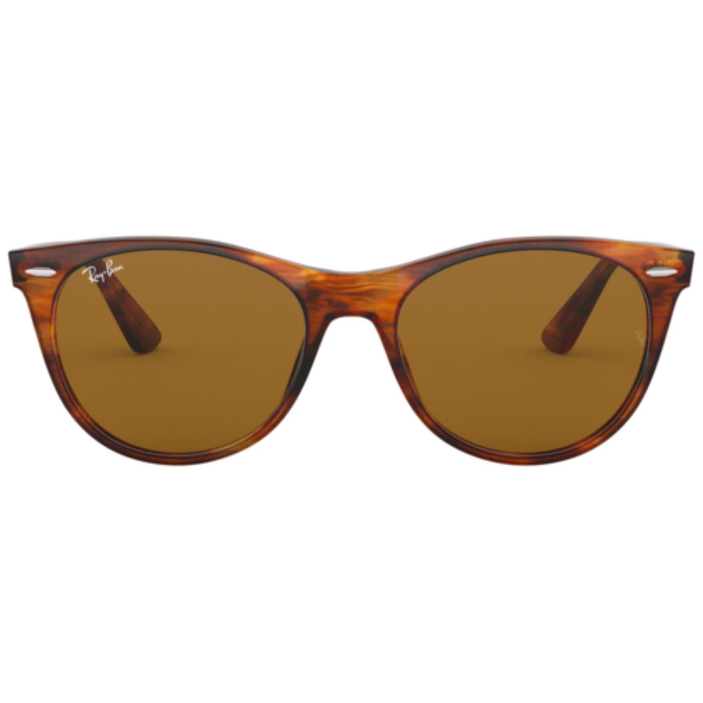 RAY-BAN Retro Striped Havana Wayfarer Sunglasses
