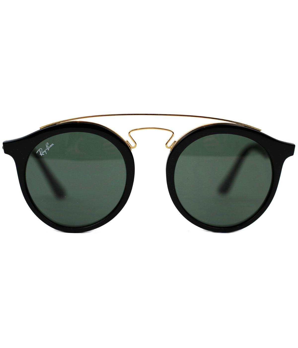 8143a90e99 RAY-BAN Retro Mod 60s Round Clubmaster Sunglasses in Black