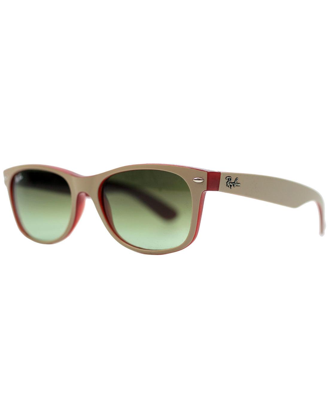 New Wayfarer RAY-BAN Retro Sunglasses - Beige/Red
