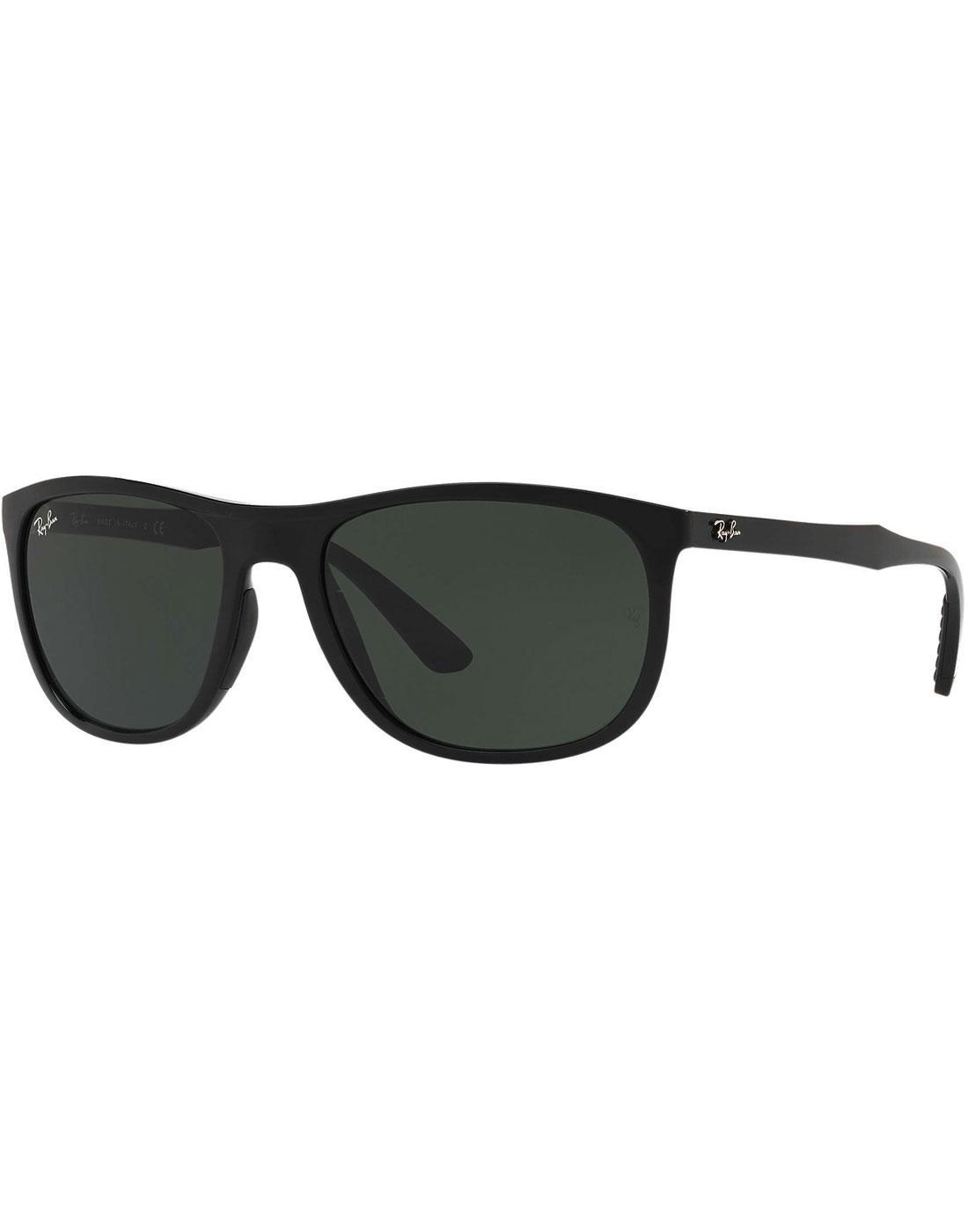 RAY-BAN Retro Wrap Around Wayfarer Sunglasses (B)