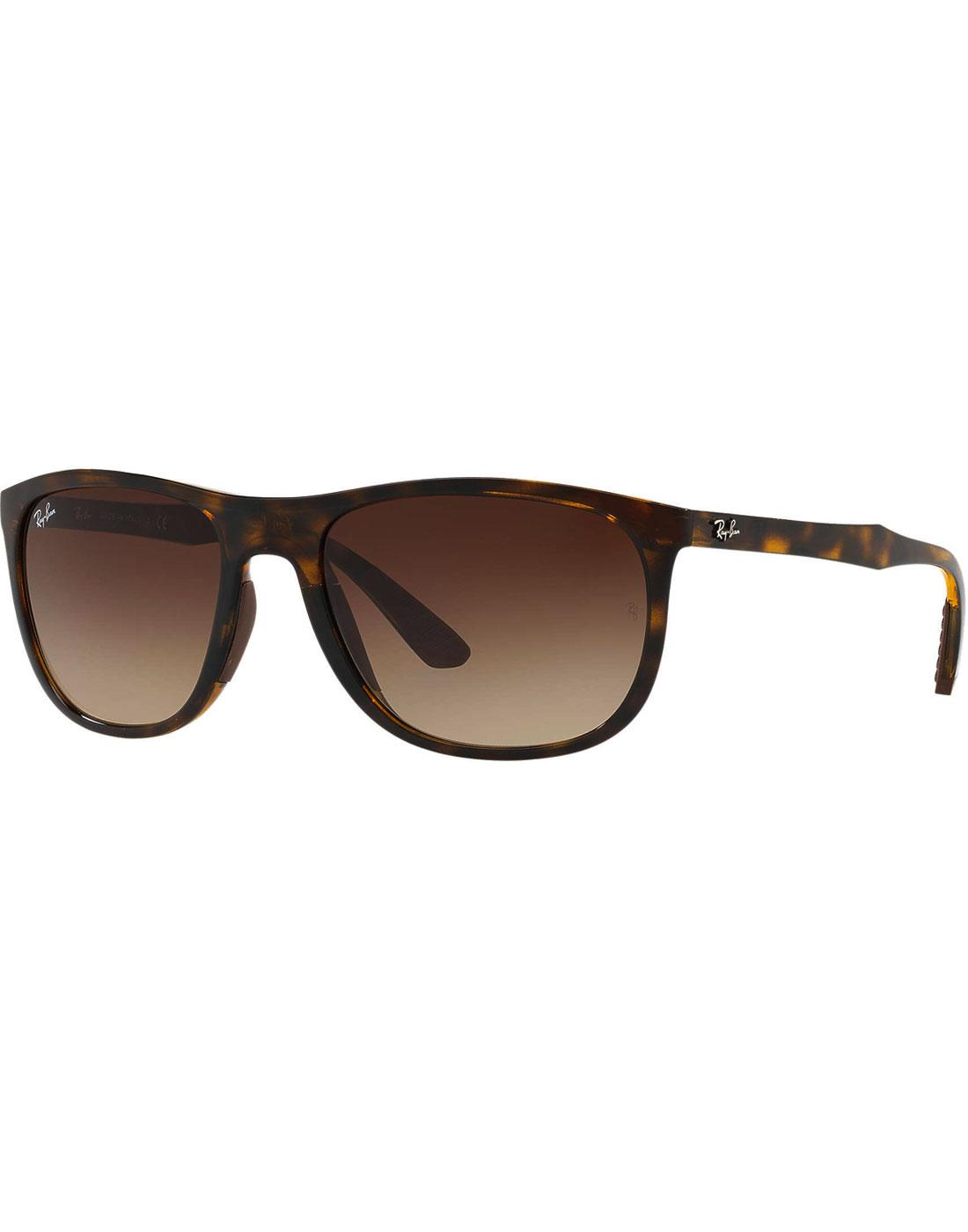 RAY-BAN Retro Wrap Around Wayfarer Sunglasses (H)