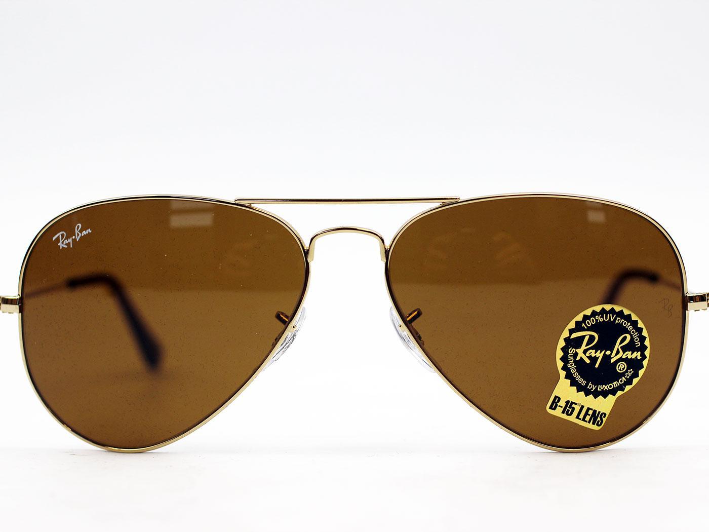 Ray-Ban Aviator Original Retro Mod Sunglasses G/B