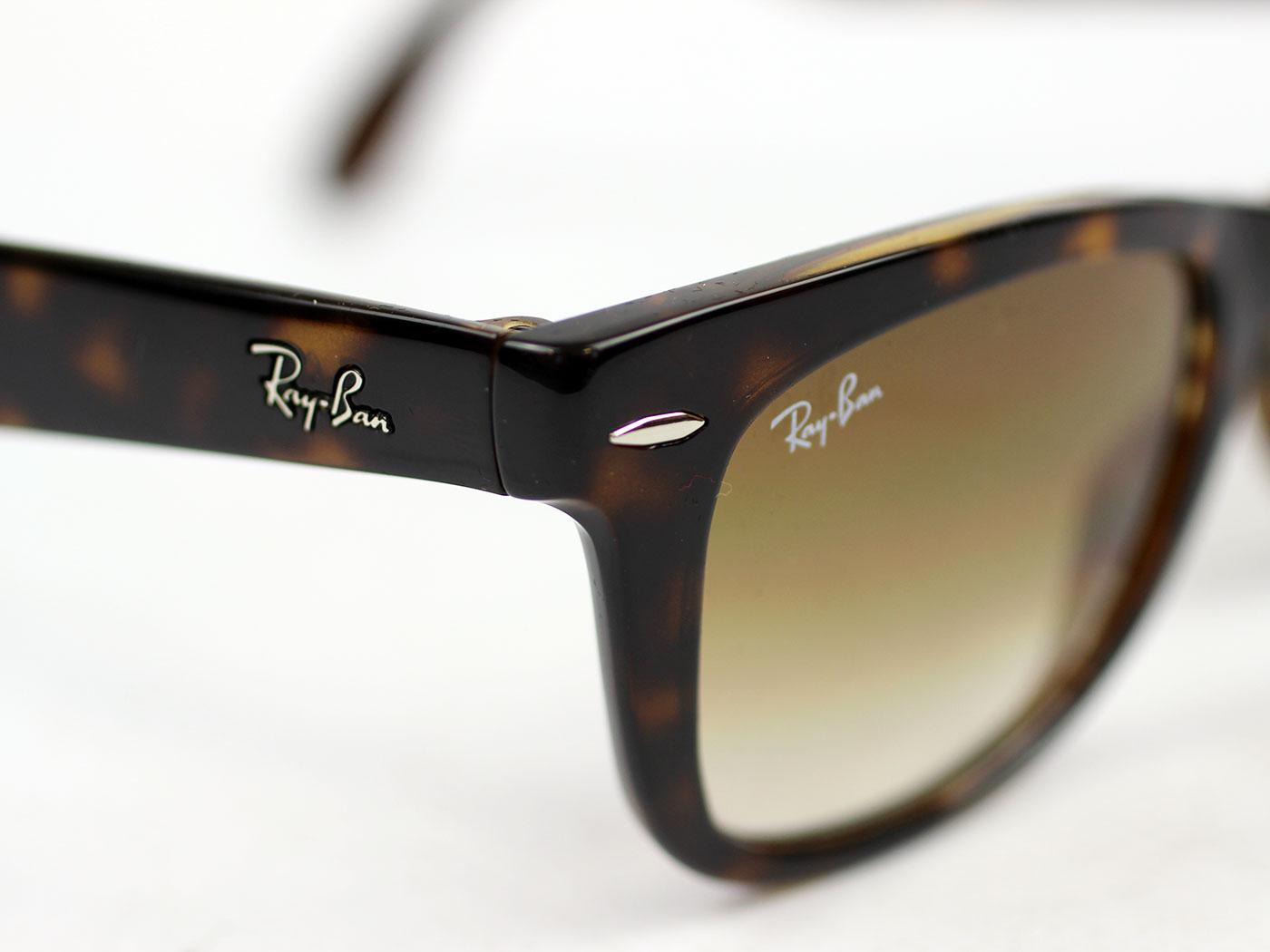 57c2aa2133b Ray-Ban Folding Wayfarer Retro Mod Sunglasses in Tortoiseshell