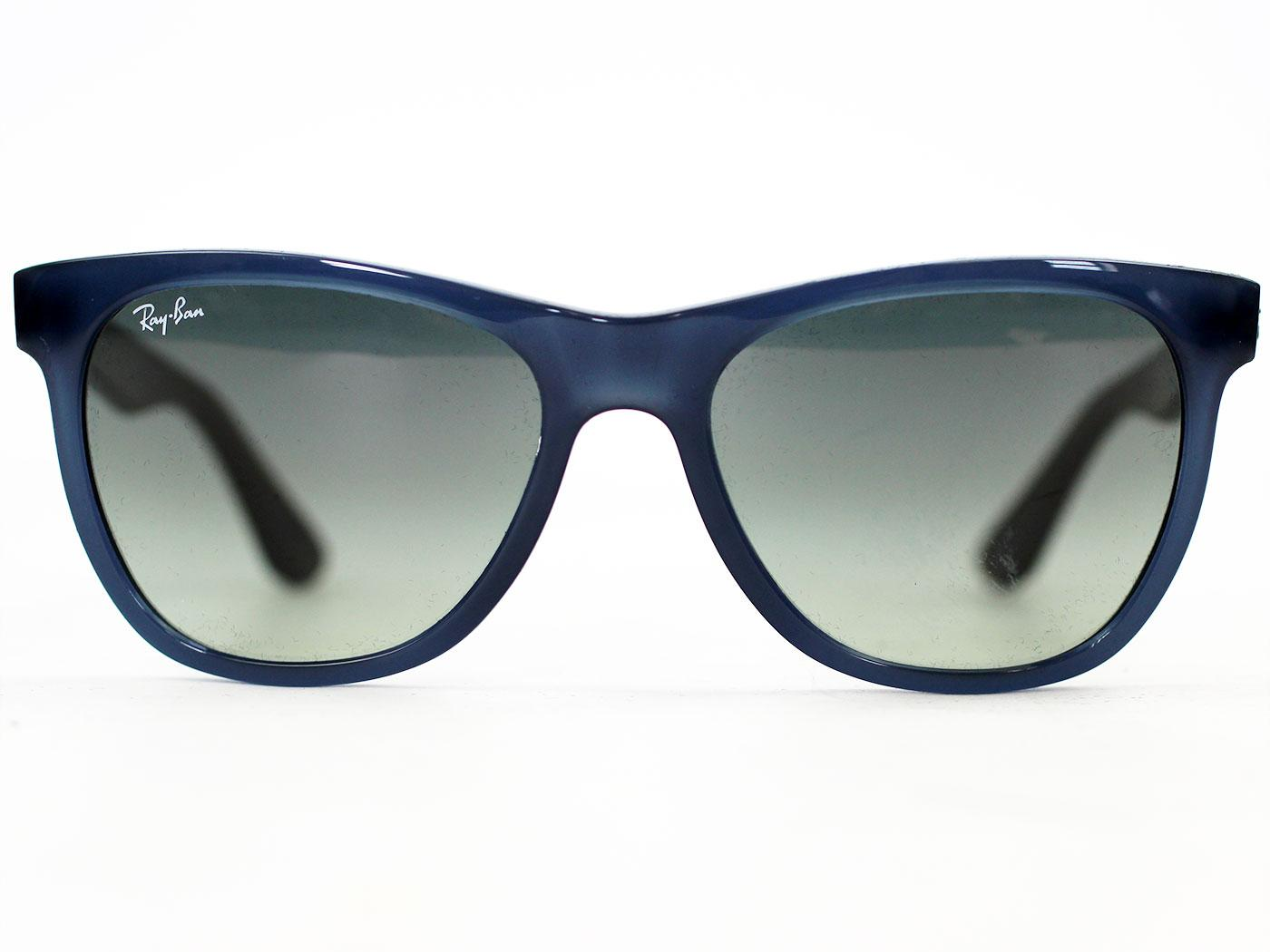 46eac706a6 Ray-Ban Retro Indie Mod Restructured Wayfarers in Grey Blue