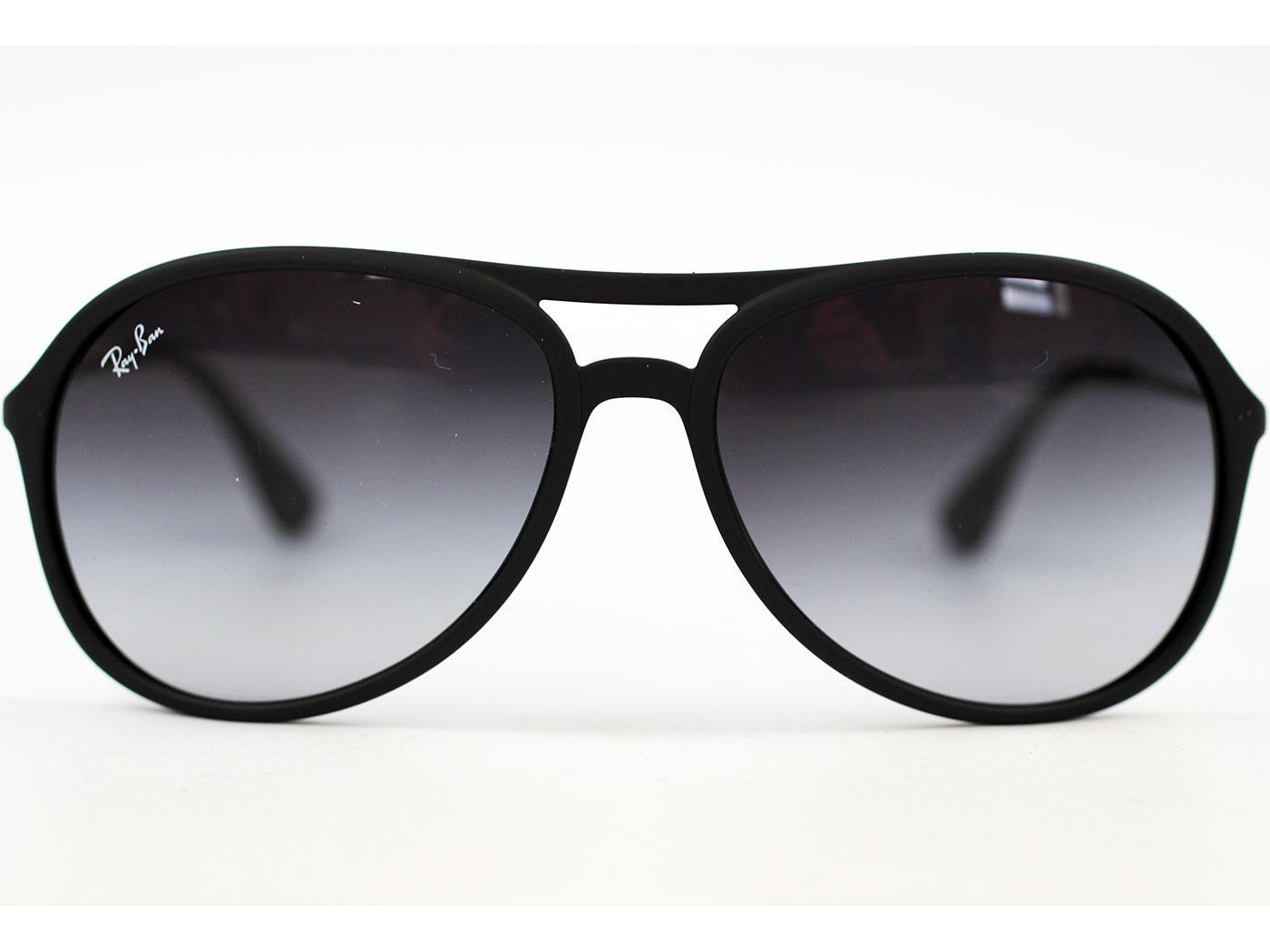 5a9b97d7d9 Ray-Ban Alex Retro Indie Mod Cats Aviator RB4201 Sunglasses Black