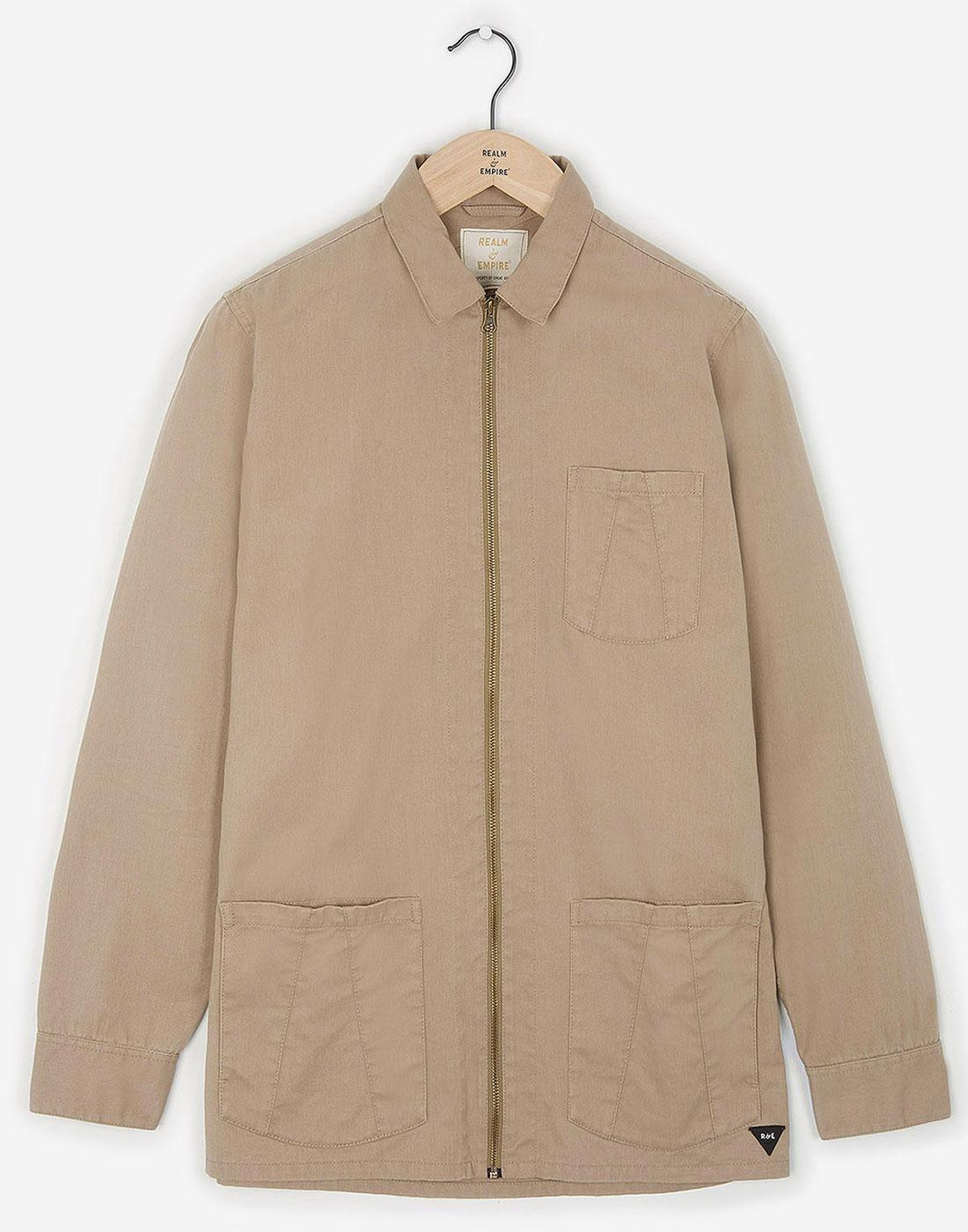 REALM & EMPIRE Zip Thru Military Workwear Jacket