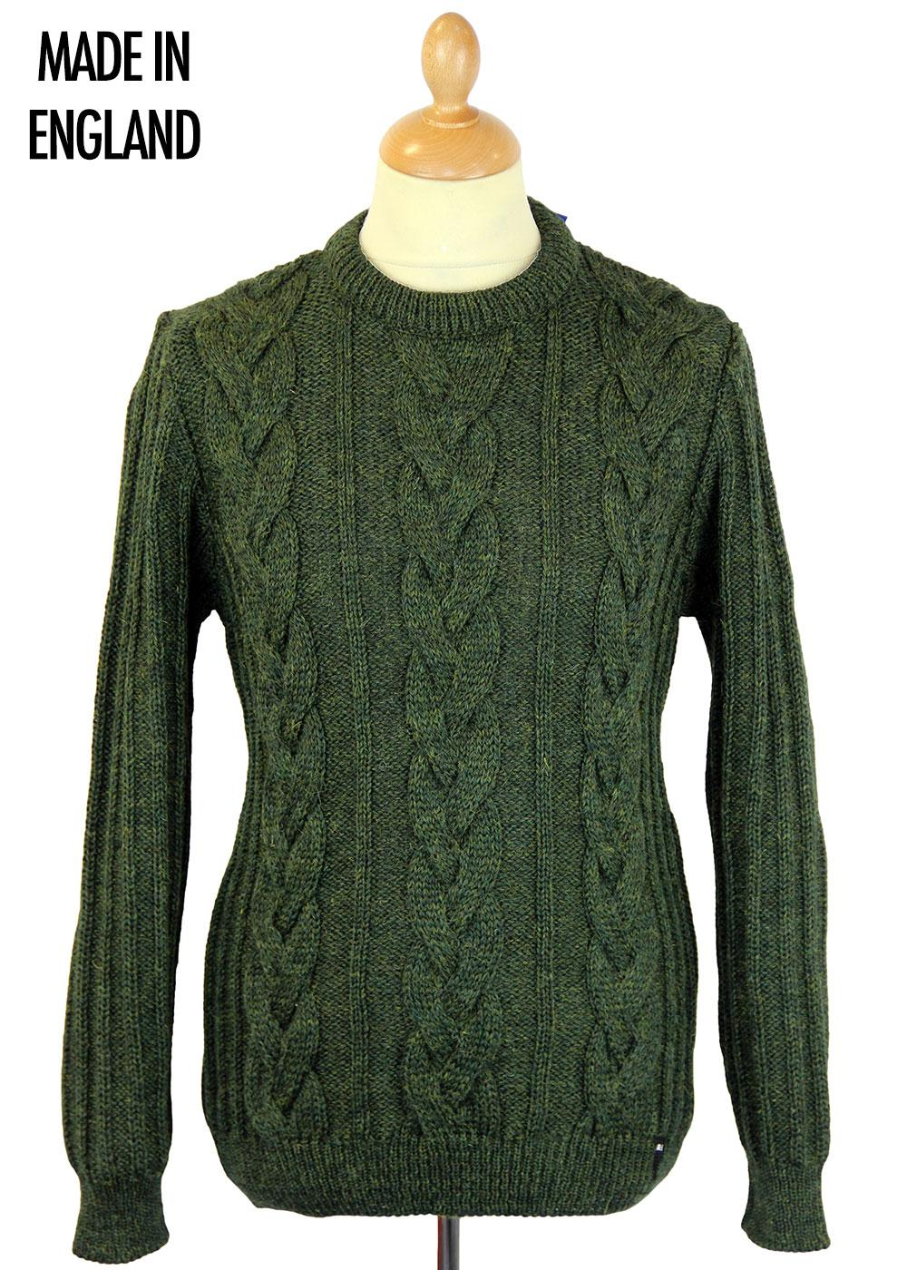 REALM & EMPIRE Made in England Cable Knit Jumper L