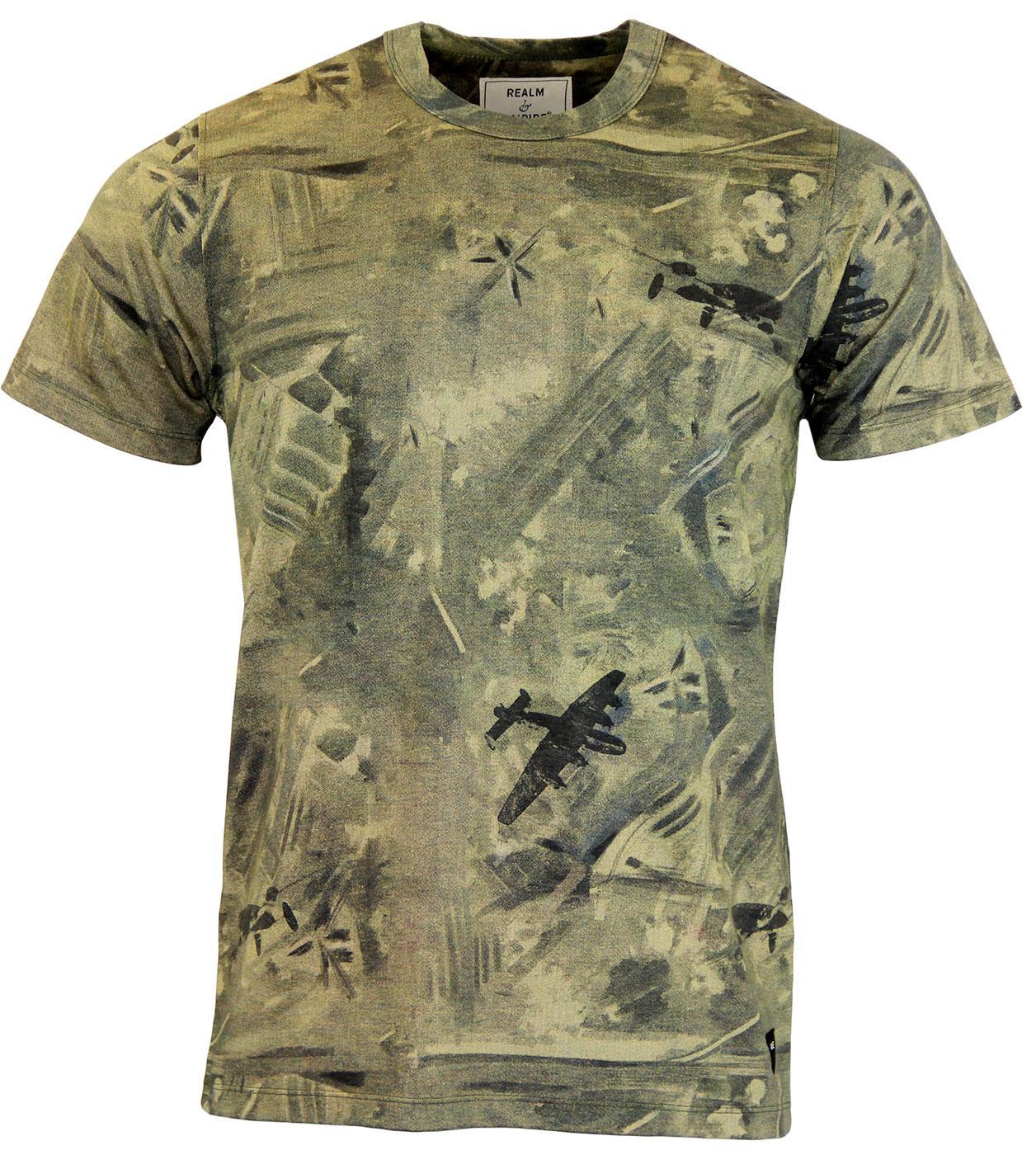 REALM & EMPIRE Target Area Retro Print T-shirt